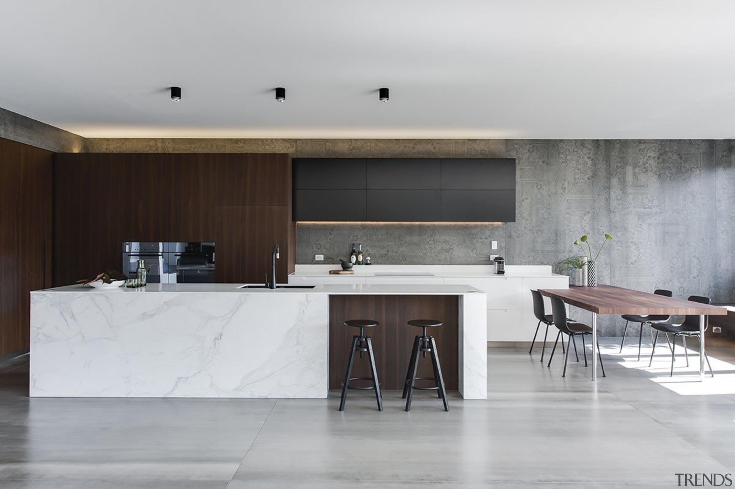 Minosa Design, SydneySee the full storyThis Kitchen architecture, countertop, floor, furniture, house, interior design, kitchen, table, gray