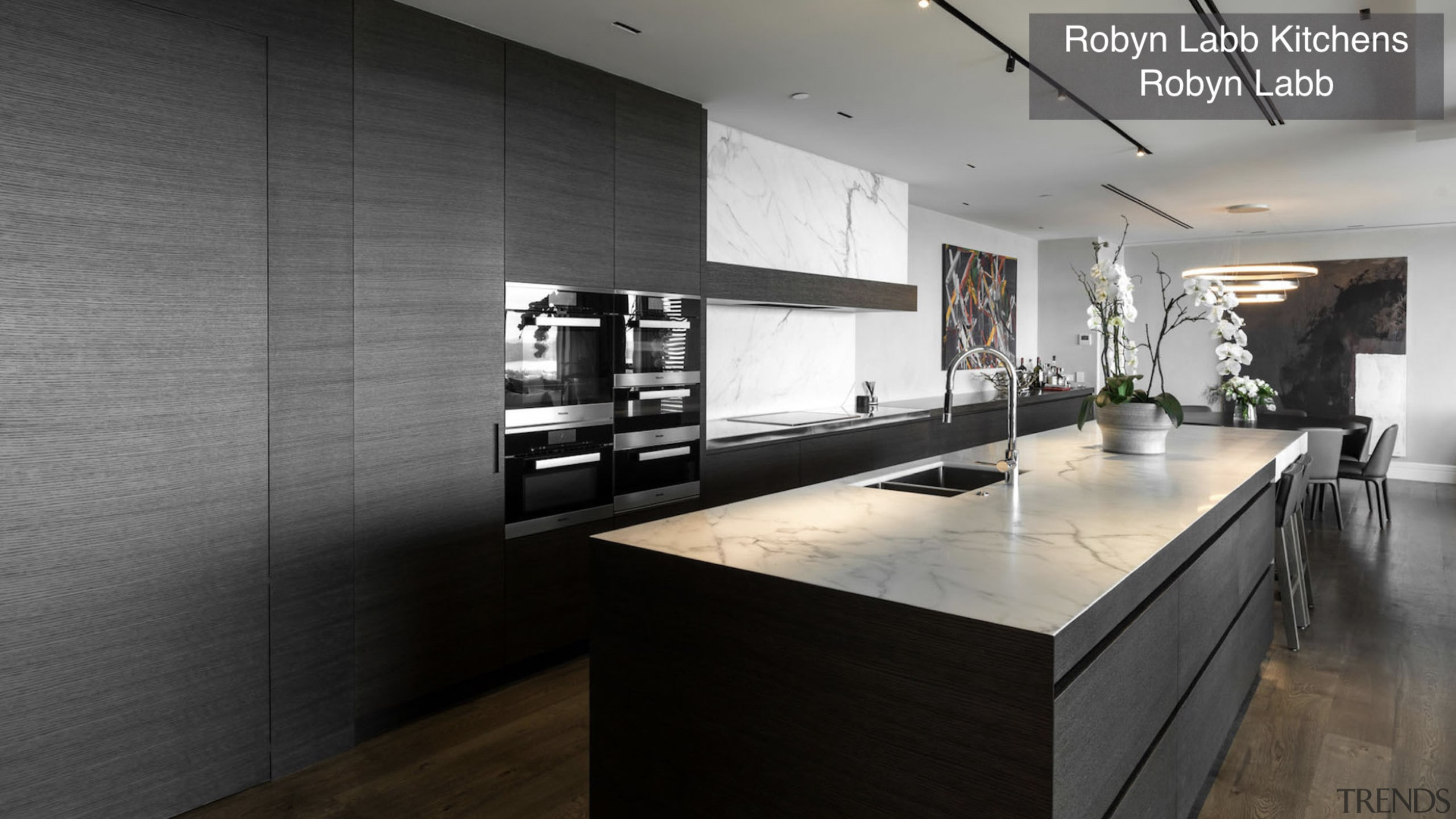 Highly Commended – Robin Labb Kitchens – TIDA countertop, floor, flooring, interior design, kitchen, black, gray