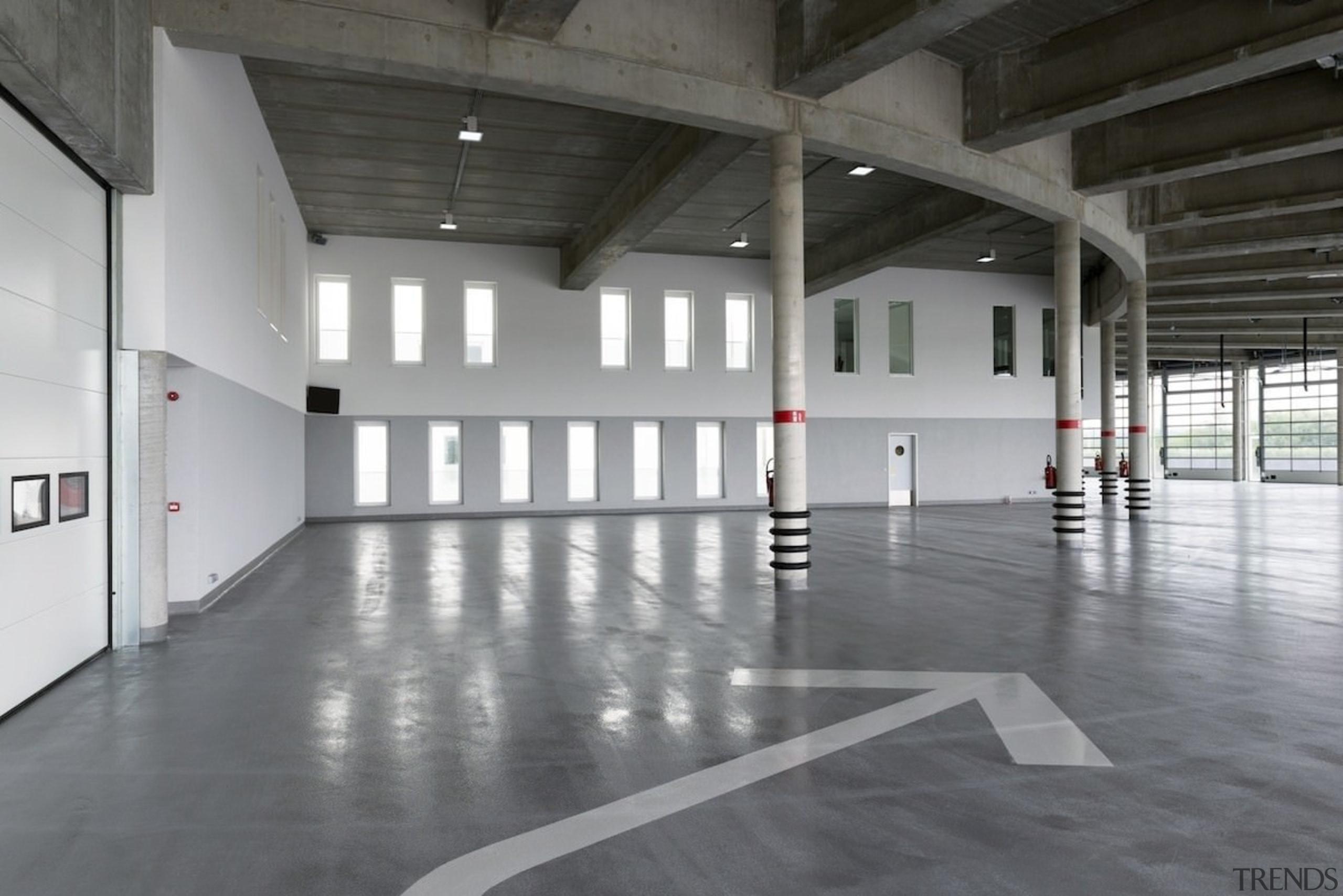 569 firestation - 569 firestation - architecture   architecture, daylighting, floor, flooring, hall, structure, gray