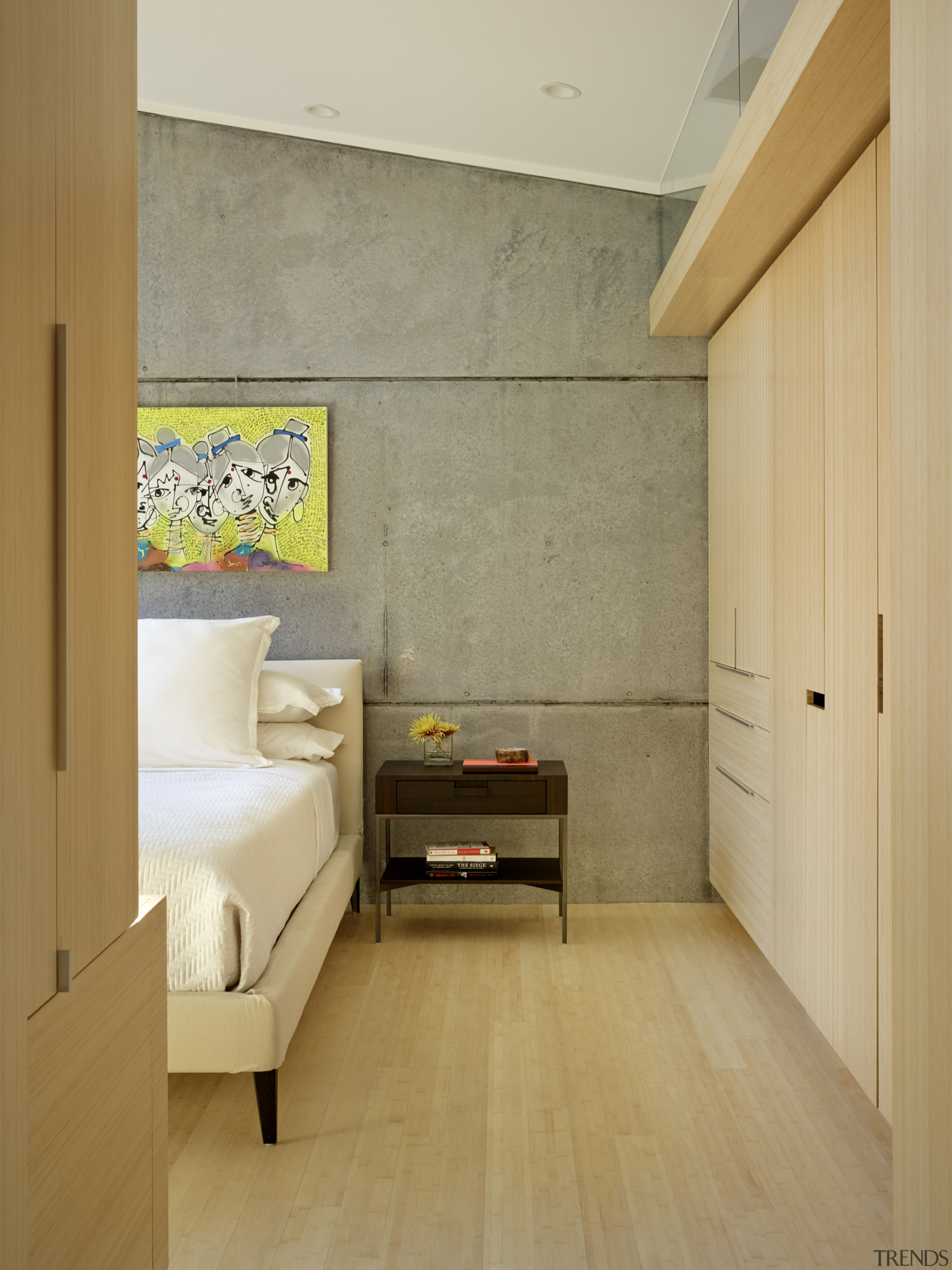 ​​​​​​​Cabinetry made of Plyboo in this master bedroom architecture, flooring, home, interior design, laminate flooring, tile, wall, wood, flooring, FuTung Cheng, Cheng Design