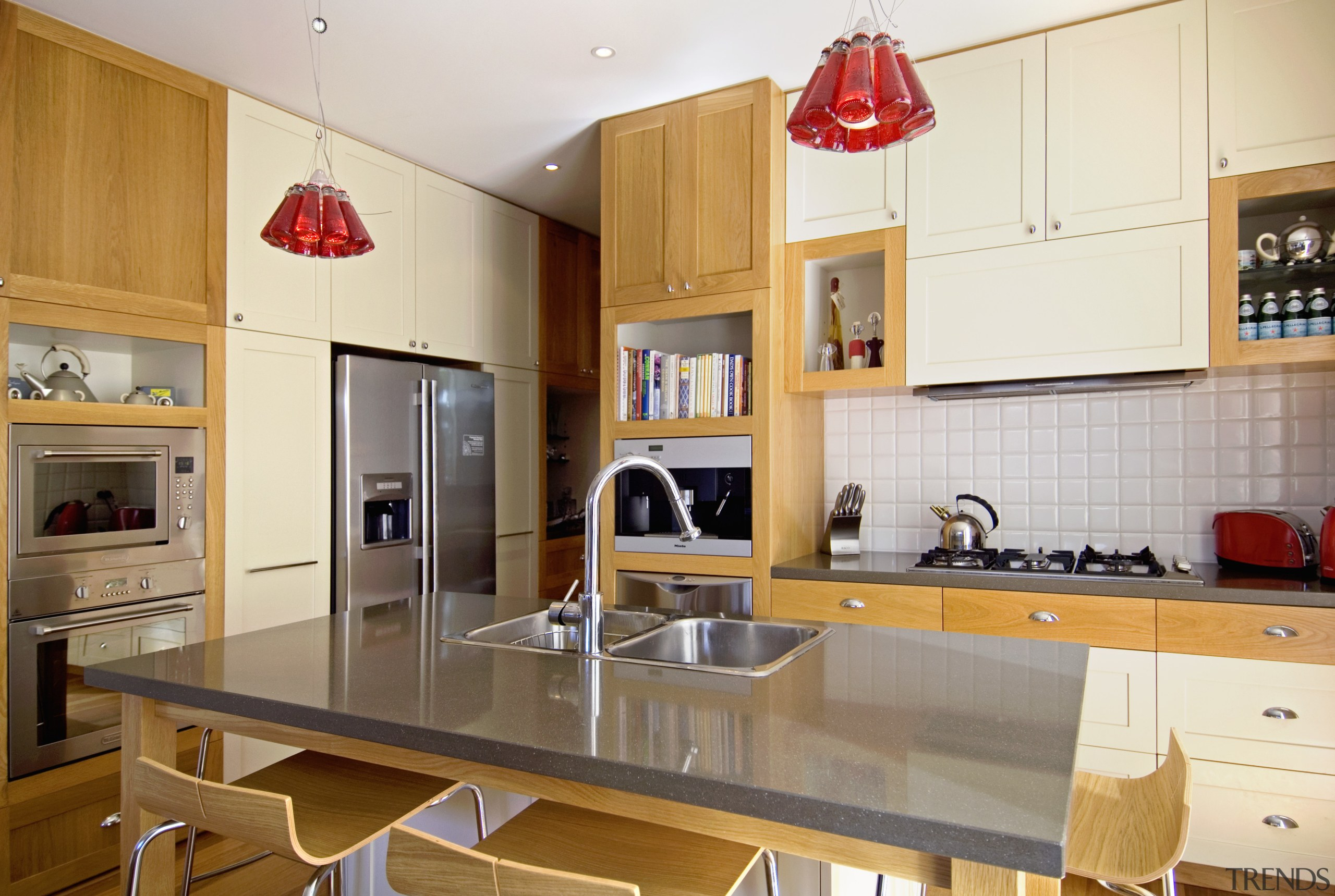 View of a renovated kitchen which has had countertop, cuisine classique, interior design, kitchen, real estate, room, white