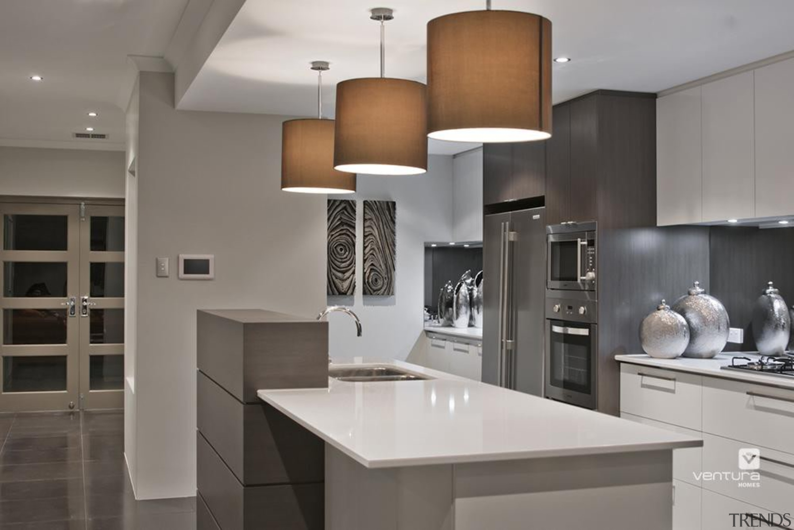 Kitchen design. - The Providence Display Home - cabinetry, countertop, cuisine classique, interior design, kitchen, product design, gray