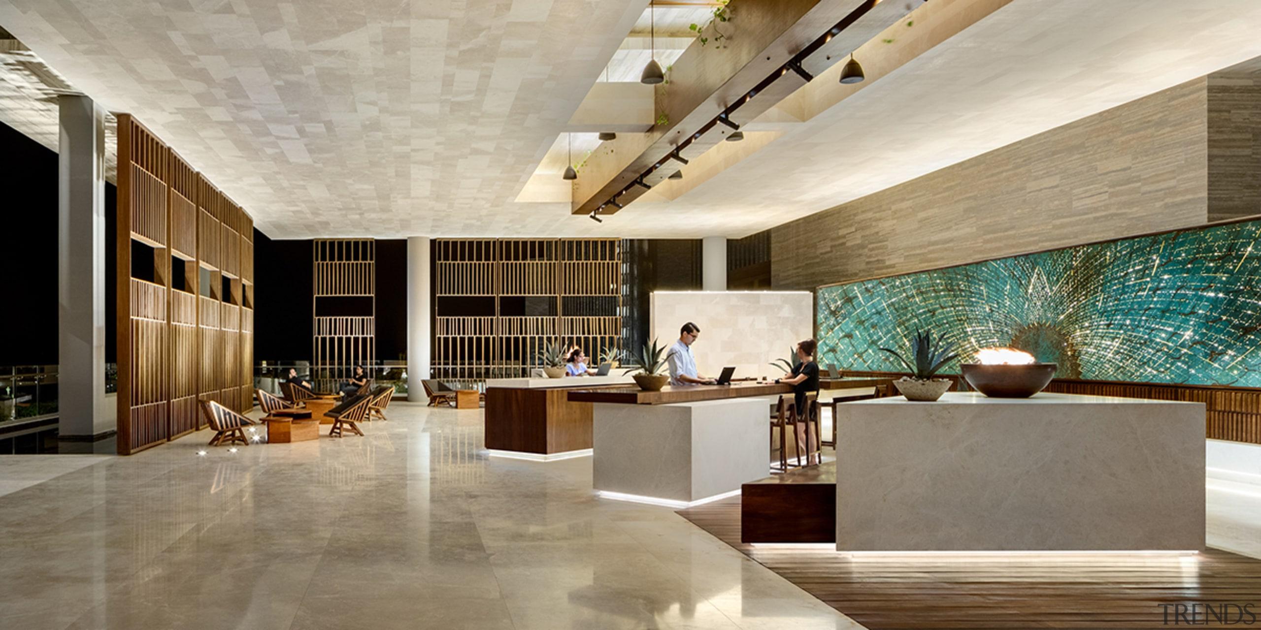 Reception at San José del Cabo Hotel, Baja gray, brown