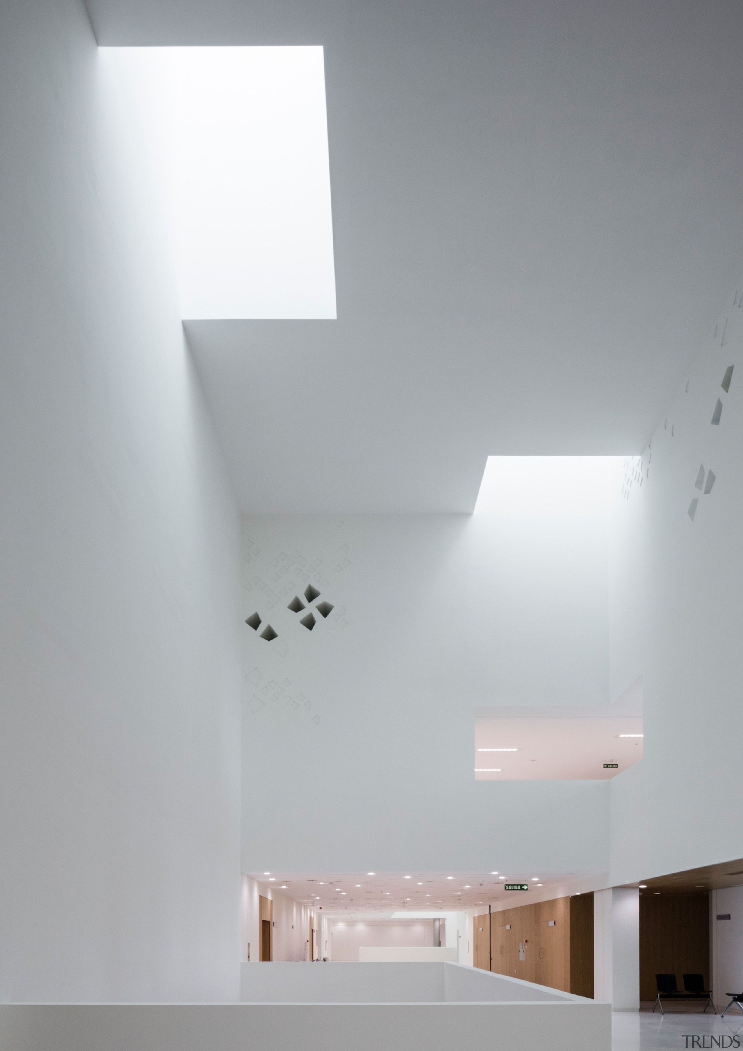 Palace of Justice building | Mecanoo + Ayesa architecture, ceiling, daylighting, daytime, house, interior design, light, light fixture, lighting, product design, wall, gray