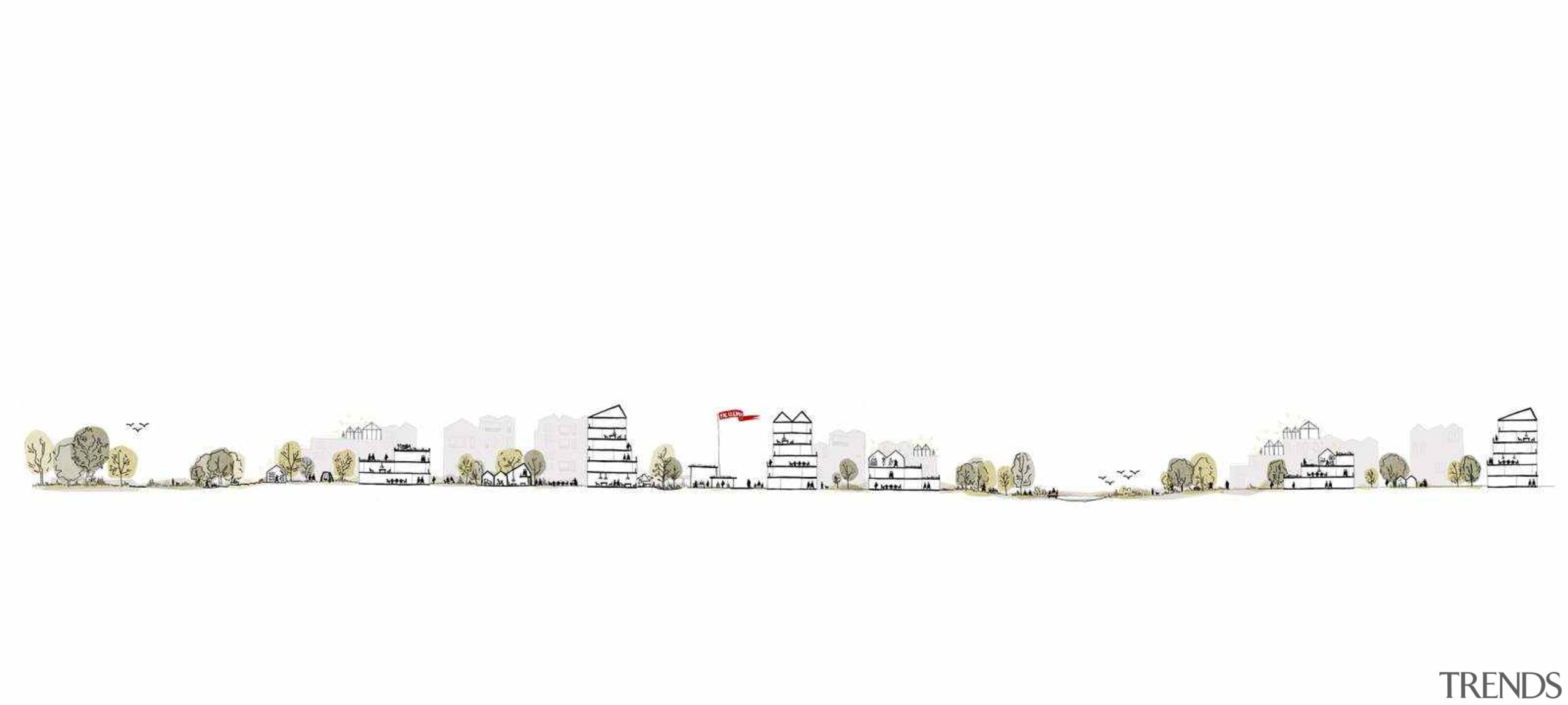 Nature and dwellings are interwoven at the new white