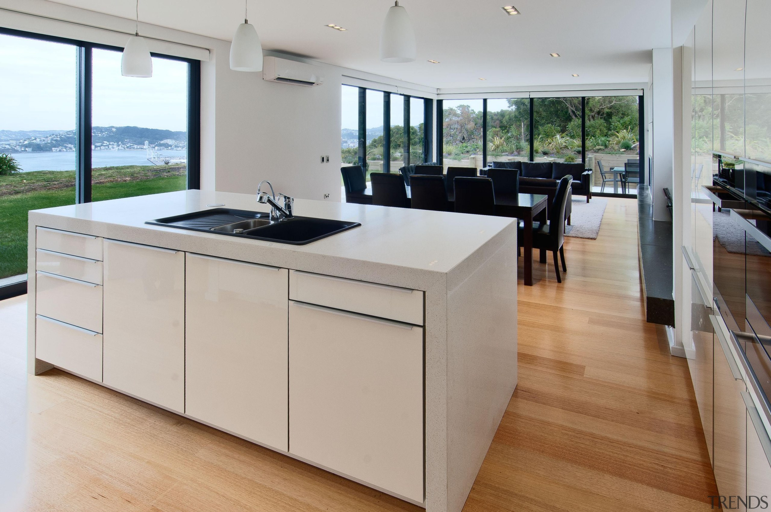 Khandallah Kitchen - Khandallah Kitchen - countertop | countertop, floor, flooring, interior design, kitchen, real estate, wood flooring, gray