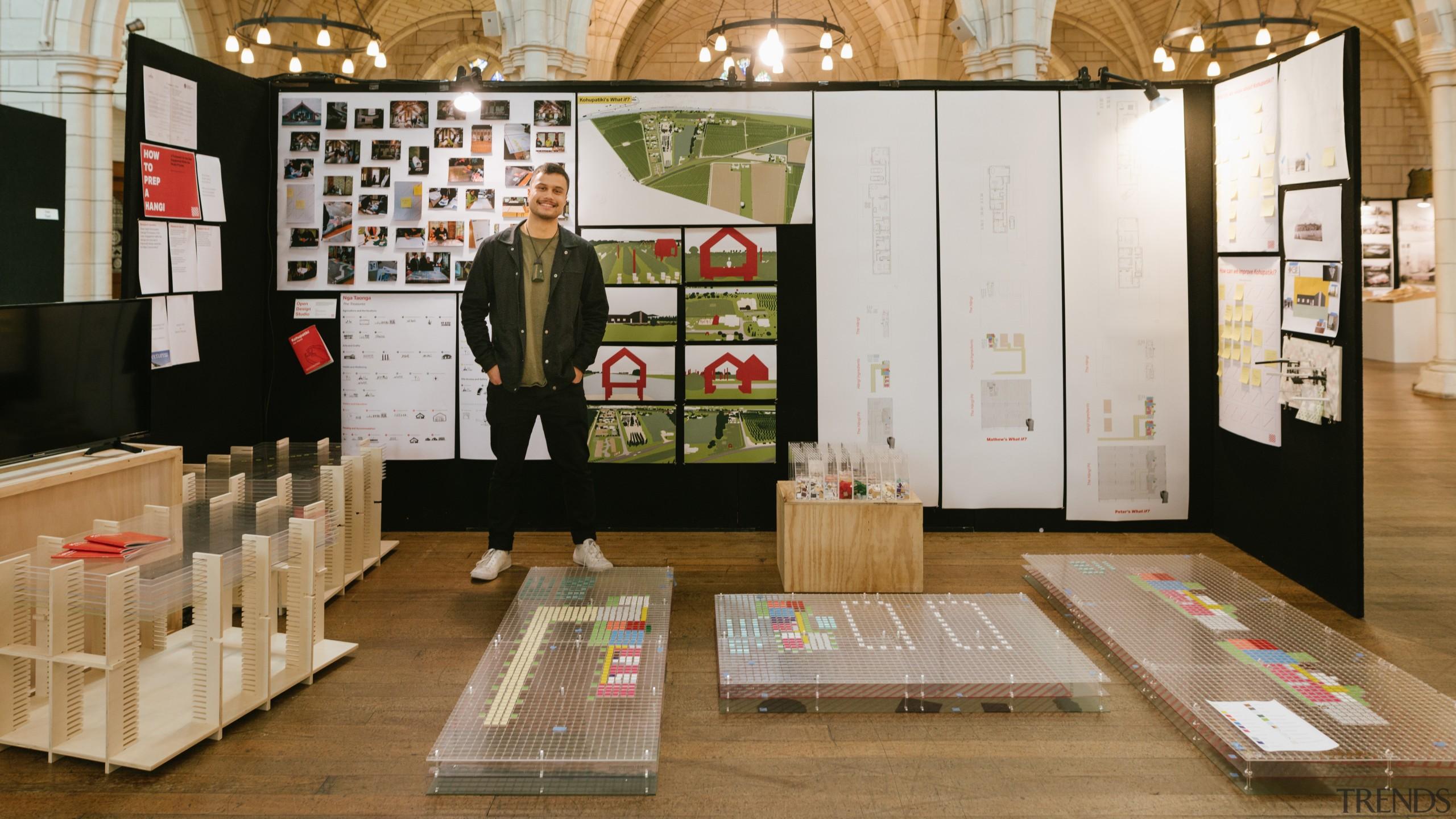 Jahmayne Robin Middleton – Victoria University Of Wellington design, exhibition, flooring, furniture, interior design, brown, gray