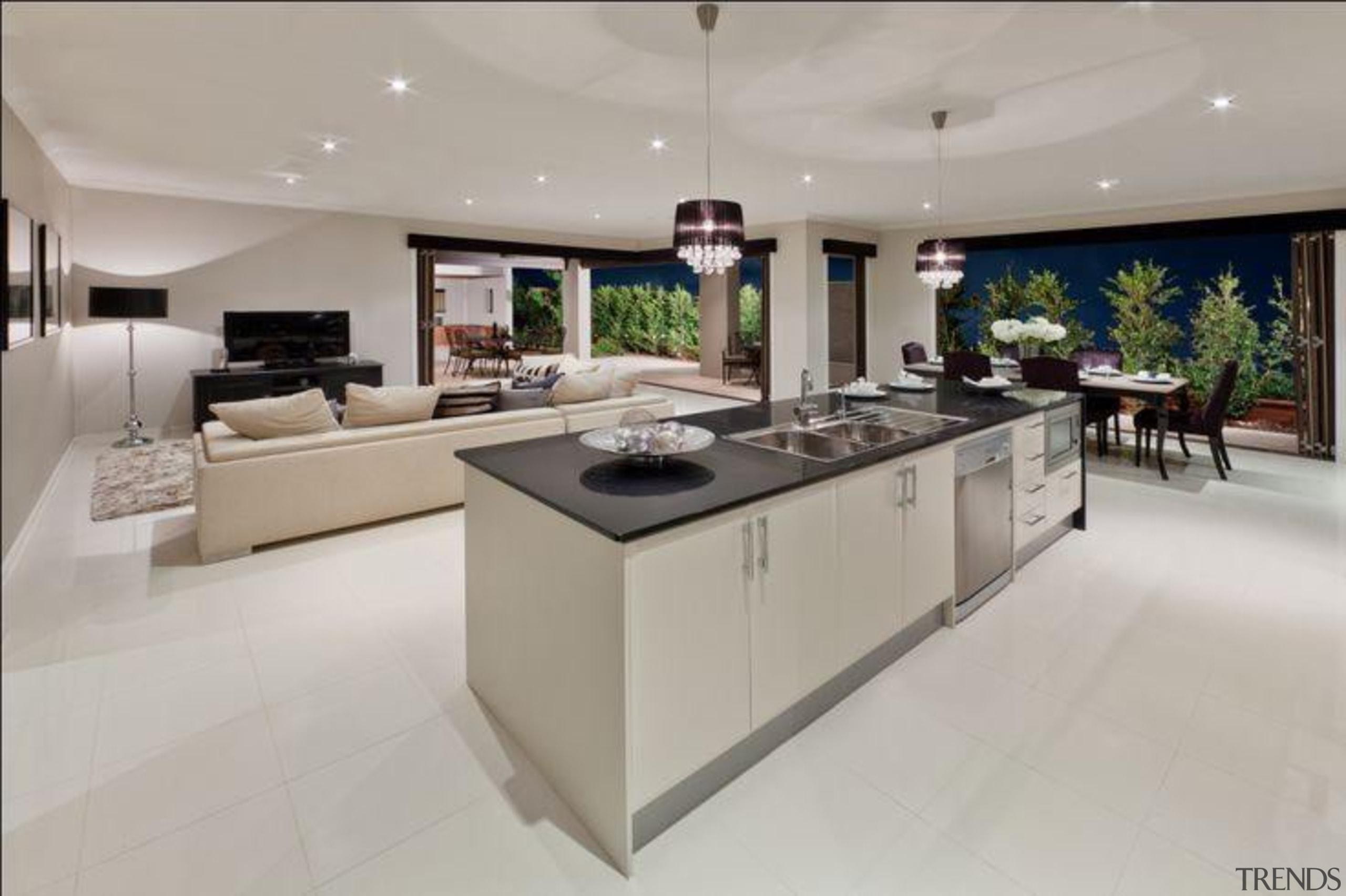 Metricon Homes Jet Black - Jet Black™ - countertop, floor, interior design, kitchen, property, real estate, gray