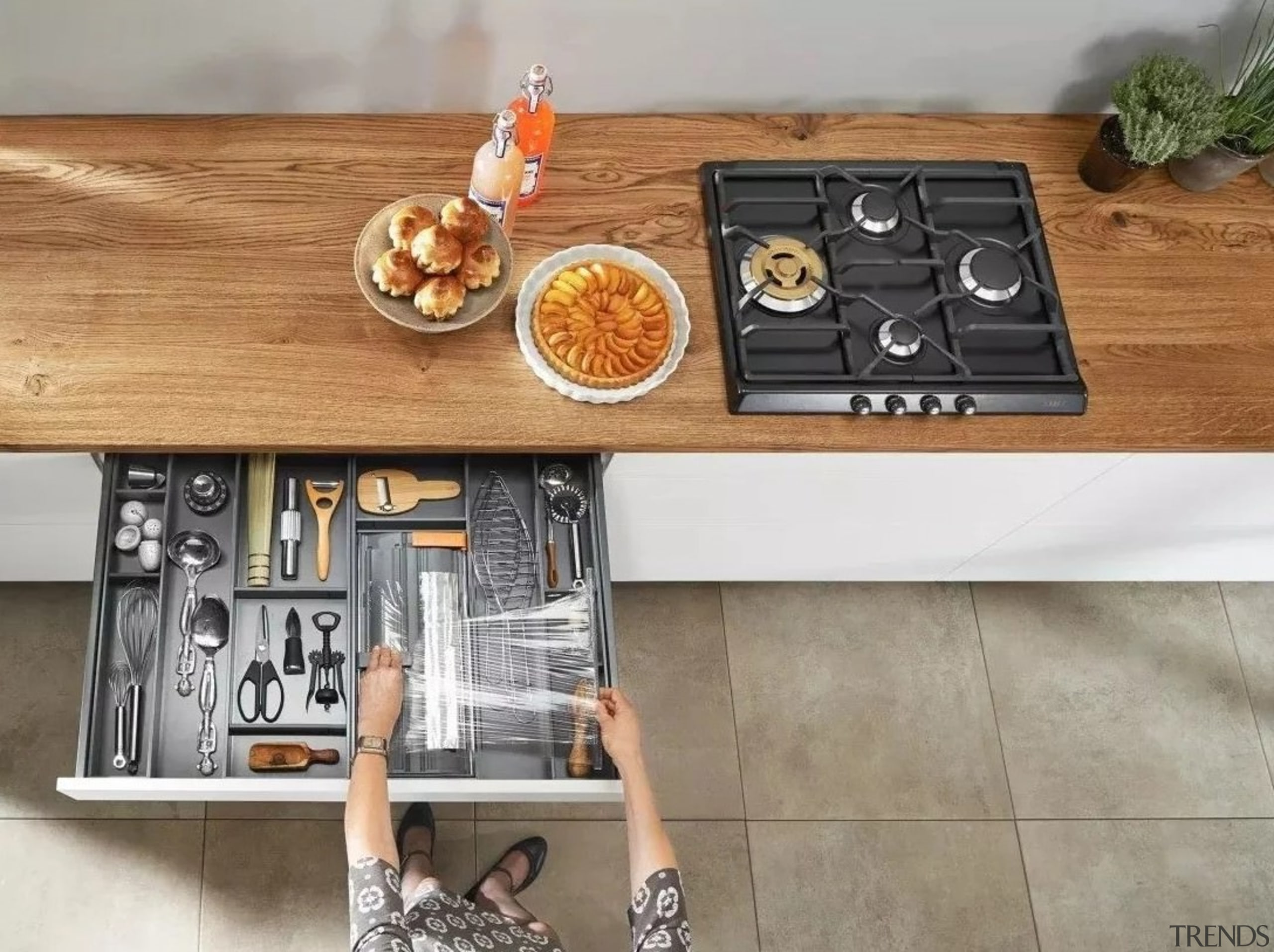 Image from: Blum New Zealand furniture, table, gray