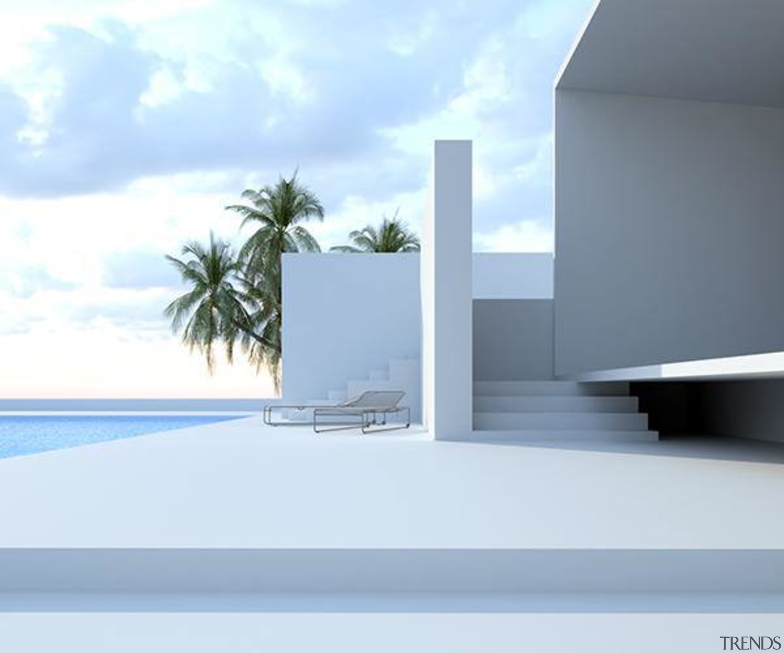 All white exteriors give a Mediterranean feel to architecture, home, house, product design, property, sky, water, white, teal