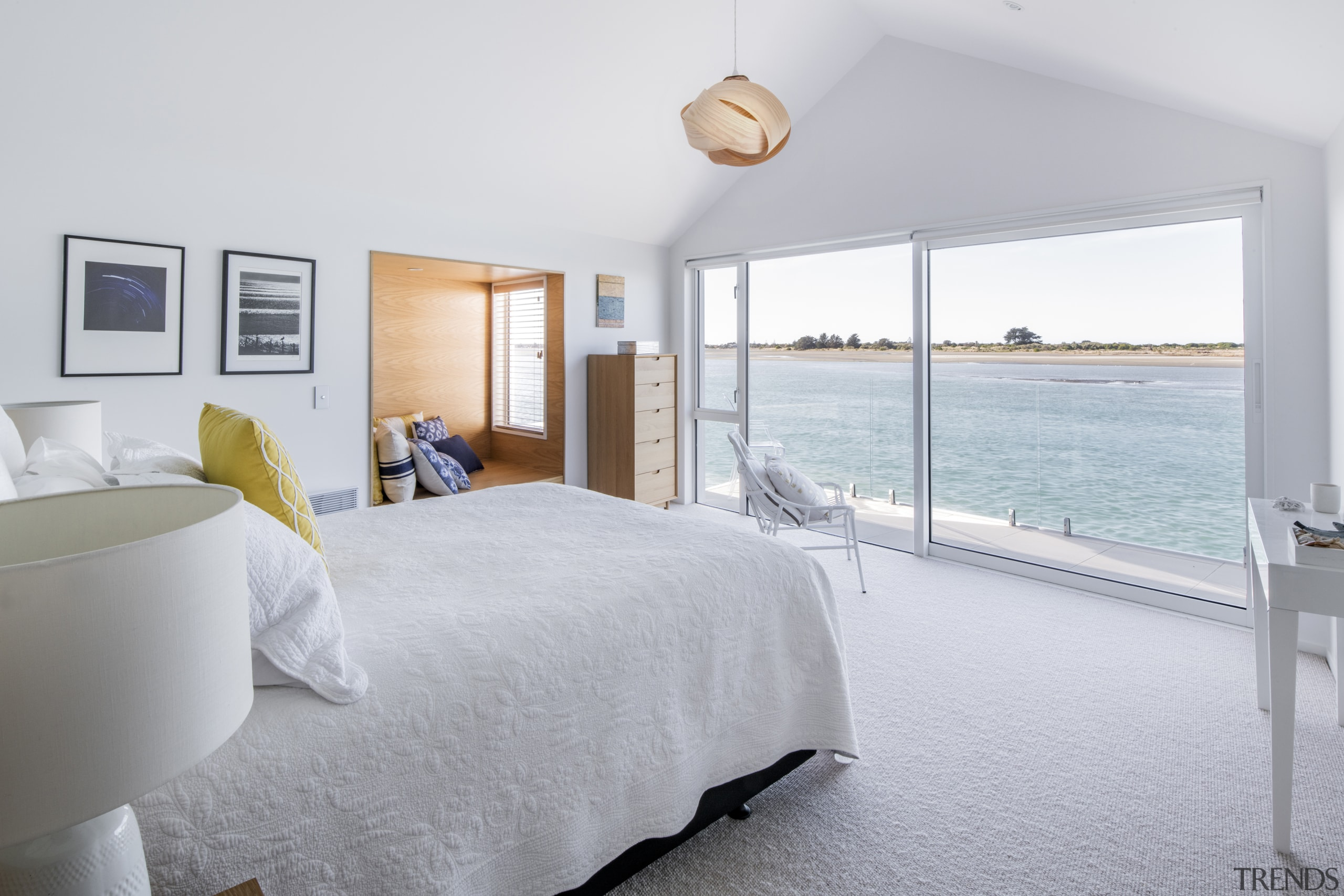 The master bedroom opens to its own deck