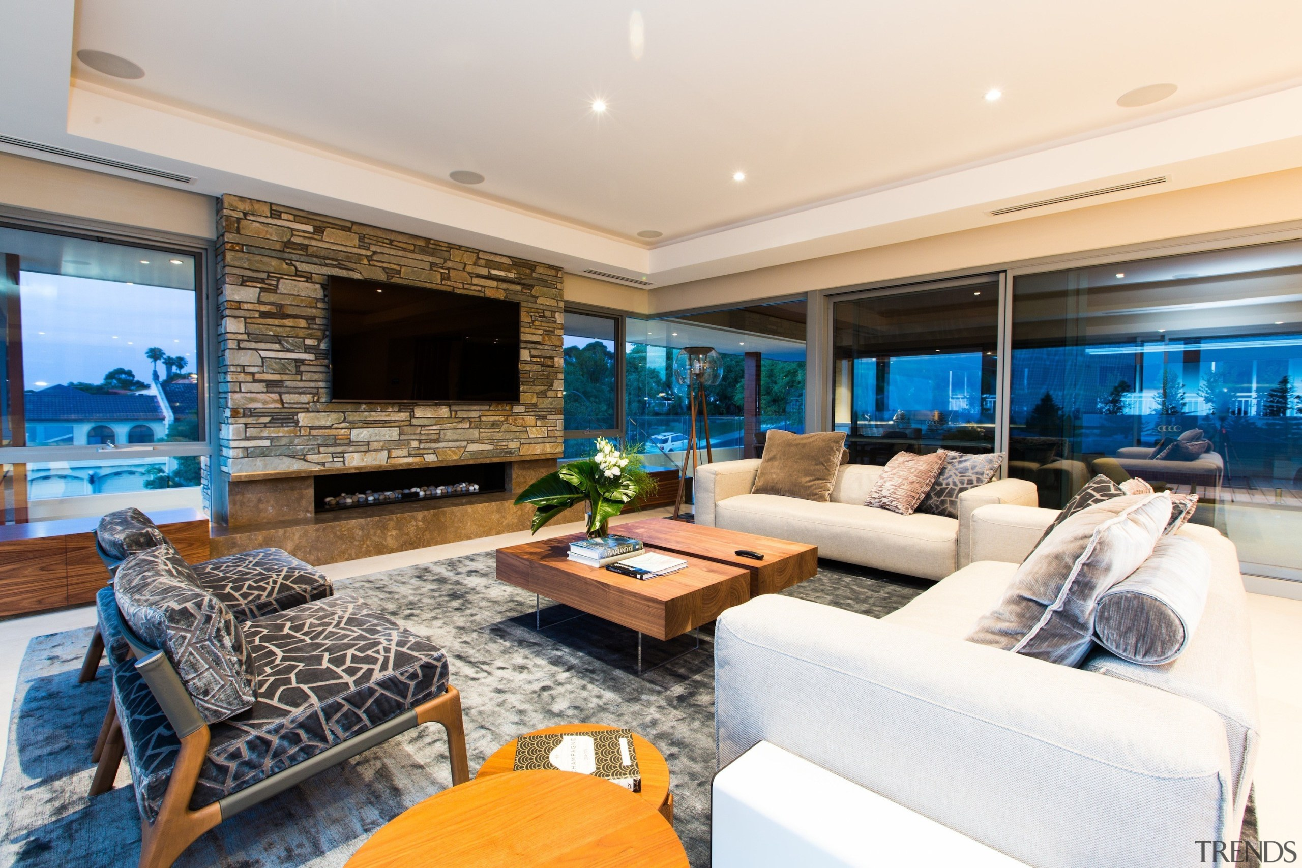 Giorgi Architects & Builders -  Highly Commended ceiling, estate, home, interior design, living room, penthouse apartment, property, real estate, room, white