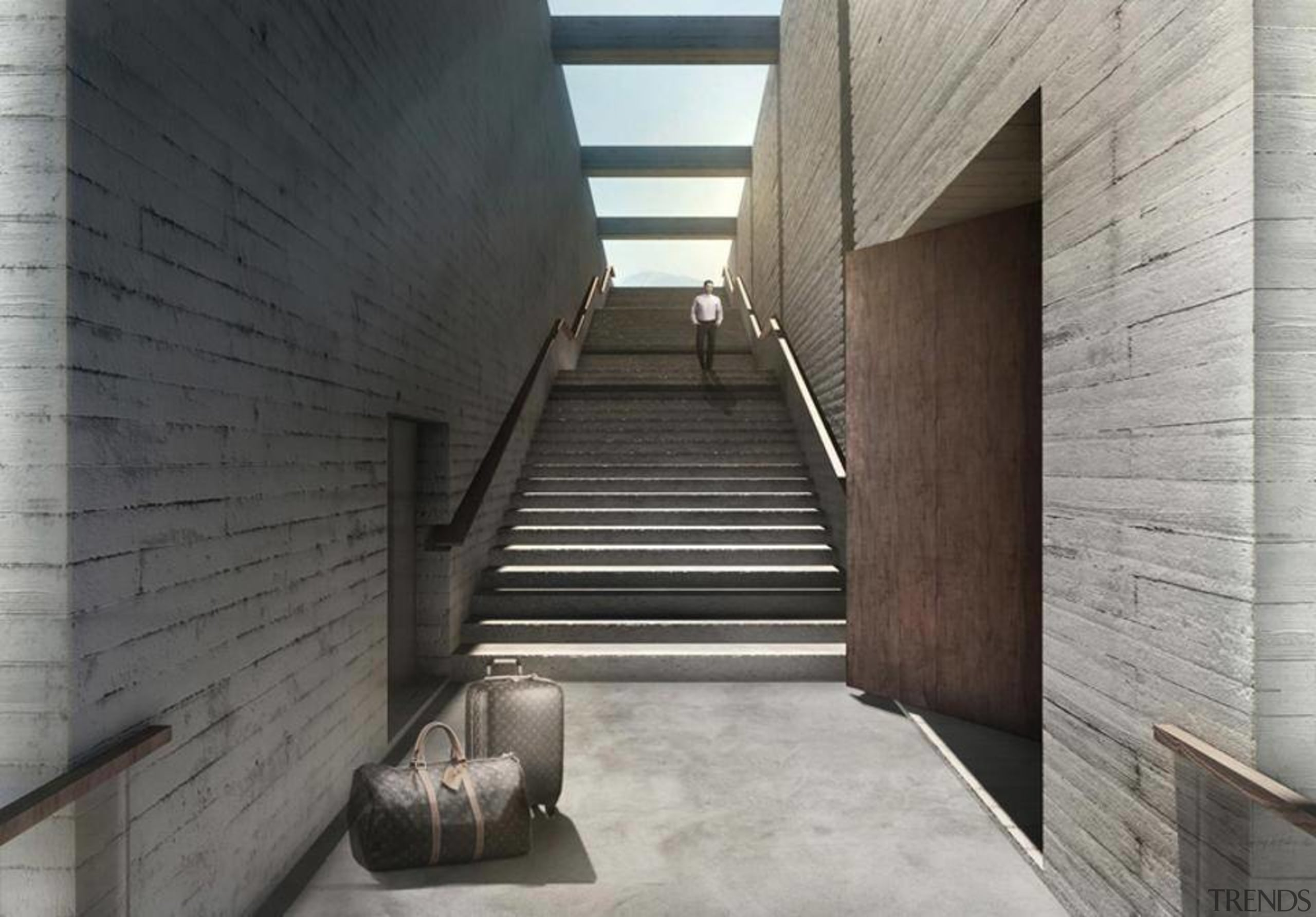 Casa Brutale: Images from LAAV architecture, daylighting, stairs, structure, gray, black