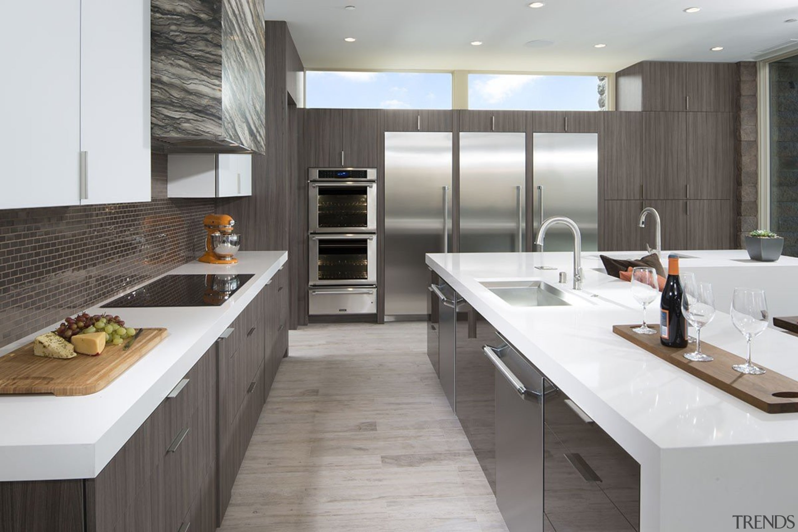 By Design Studio, CaliforniaSee more from By cabinetry, countertop, cuisine classique, interior design, kitchen, gray, white
