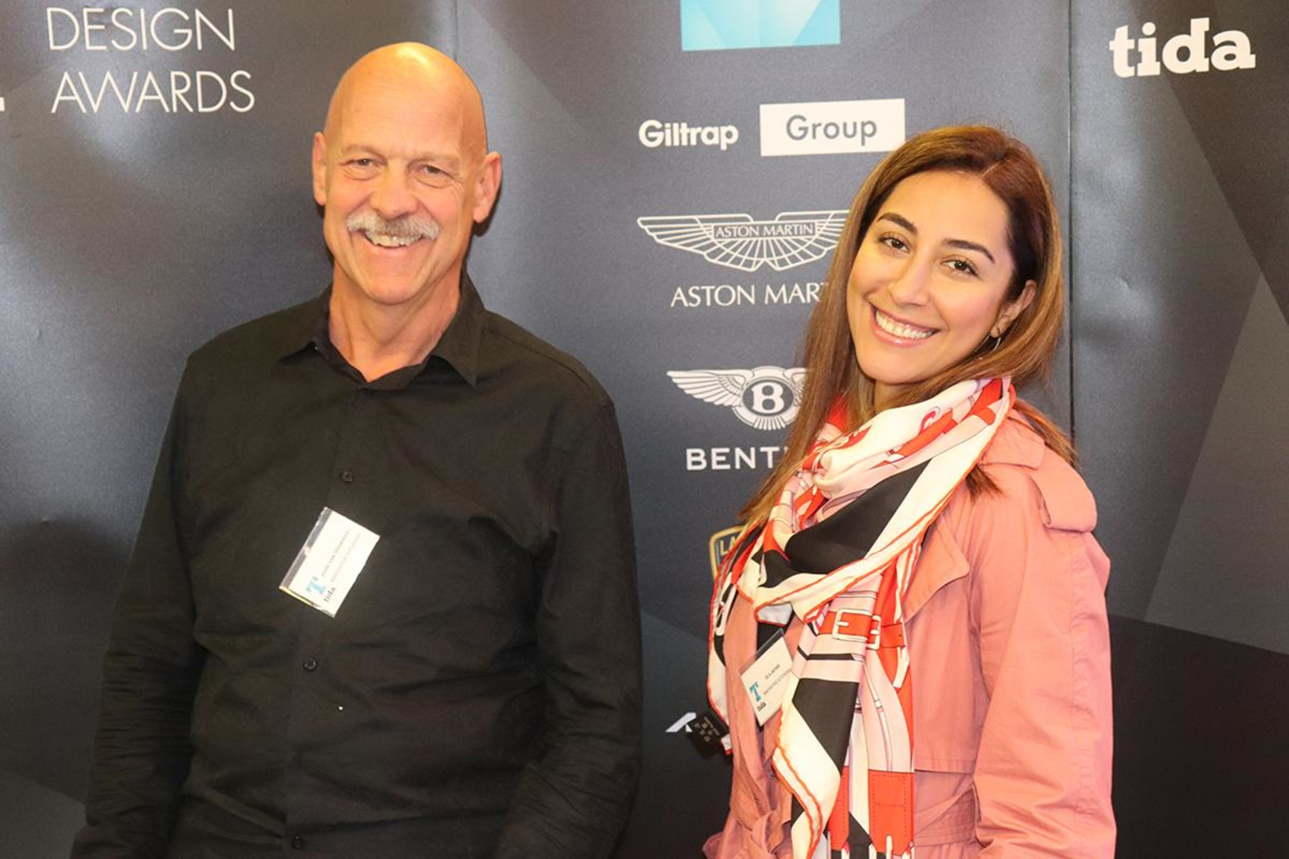 John van Doormaal and Pam Louis from Innovative award, event, product, black, gray