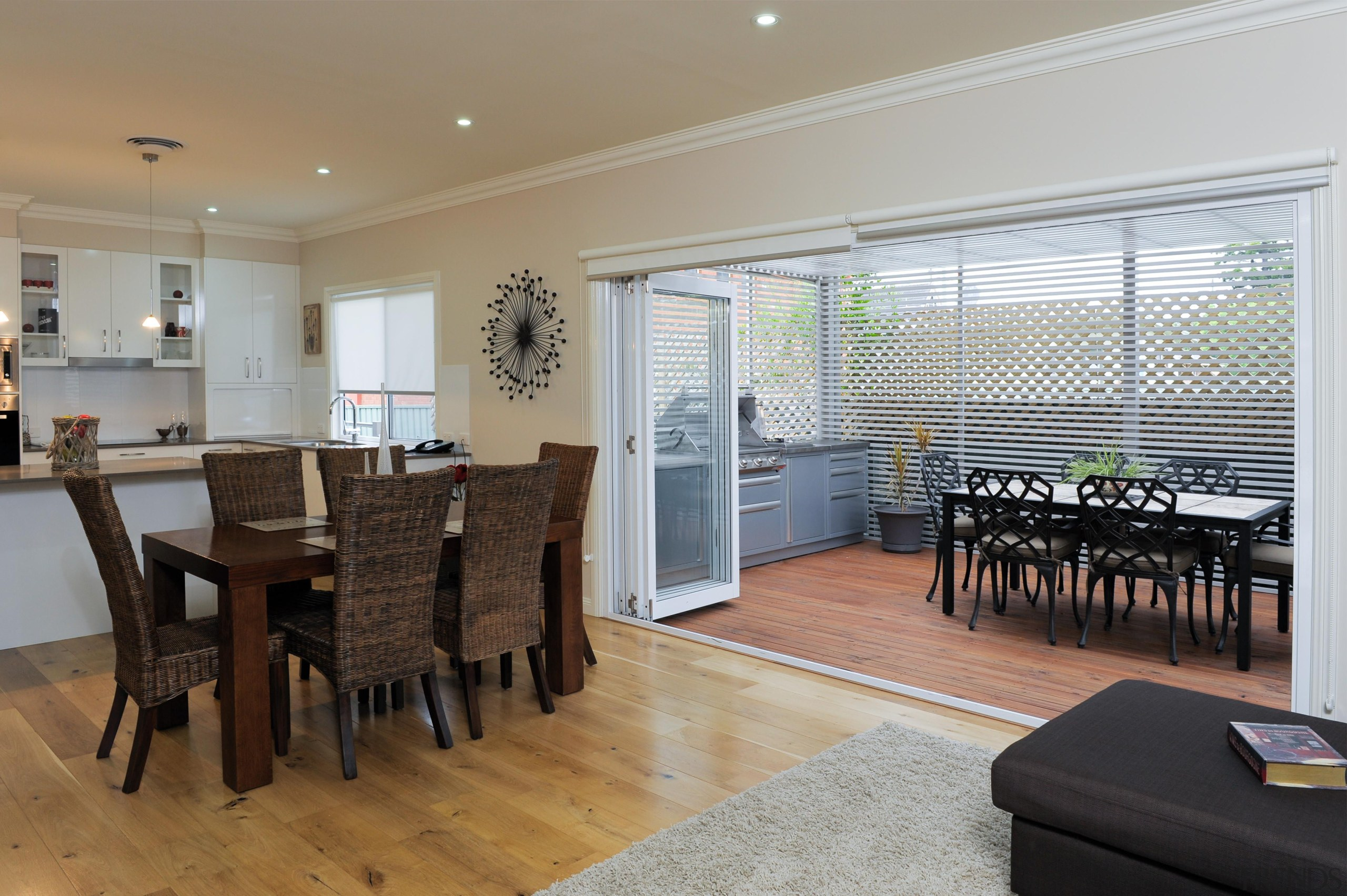 At Manor we believe in harmony - harmony dining room, flooring, home, interior design, property, real estate, room, window, gray
