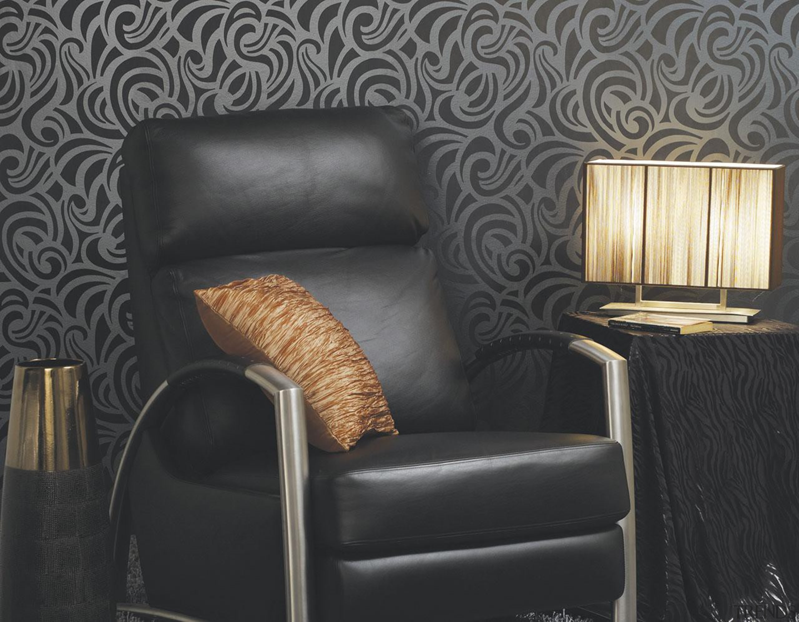 Bloomsbury House - Bloomsbury House Range - chair chair, couch, furniture, interior design, living room, recliner, wall, black