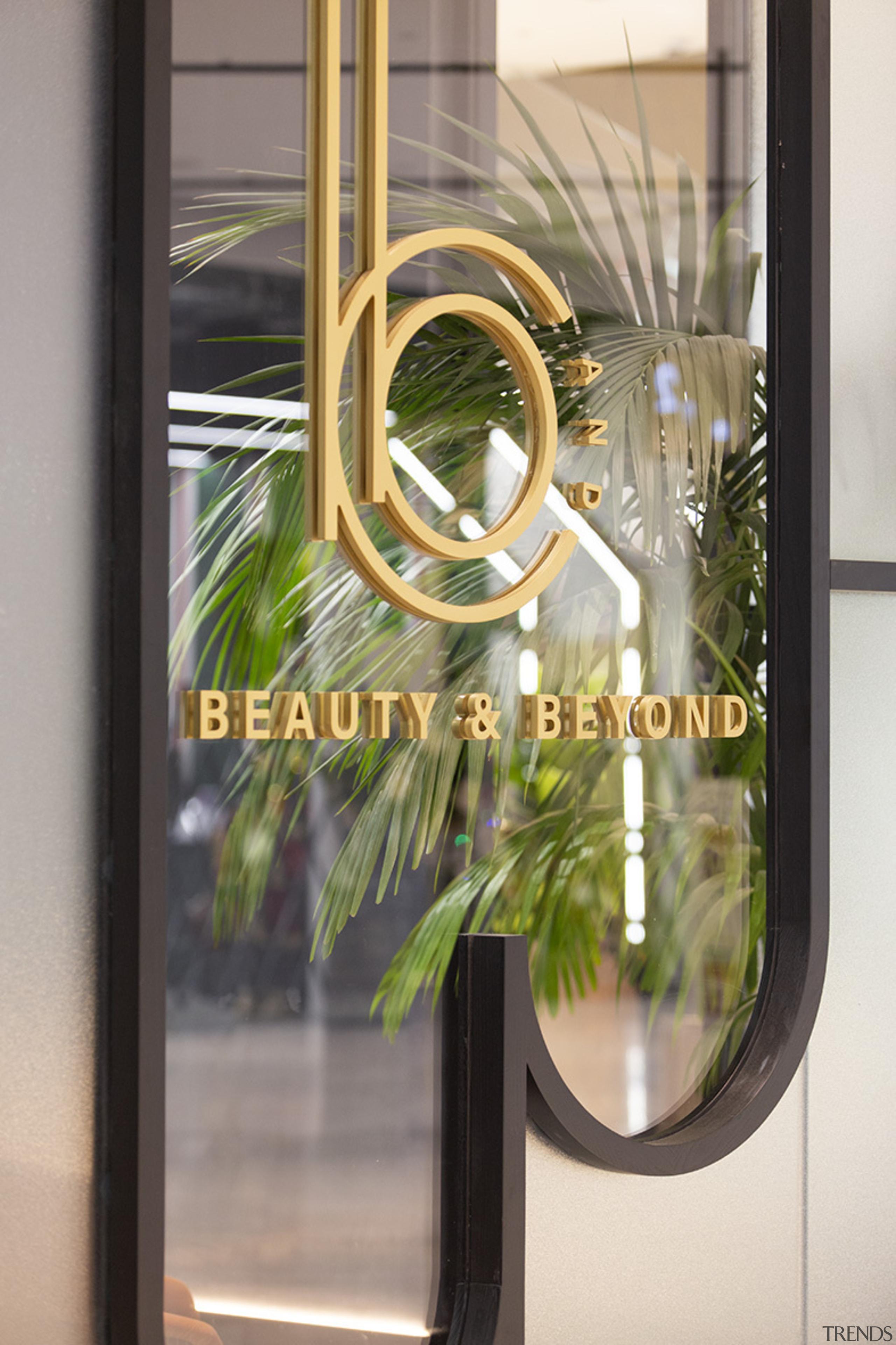 Spaceworks also designed the logo for the new door, door handle, glass, metal, mirror, window, gray