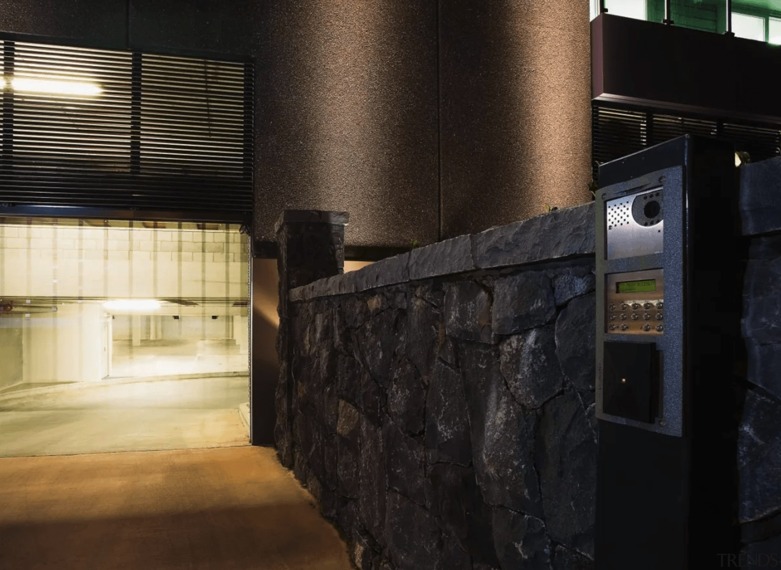 The security system provides safe carparking for staff lighting, black