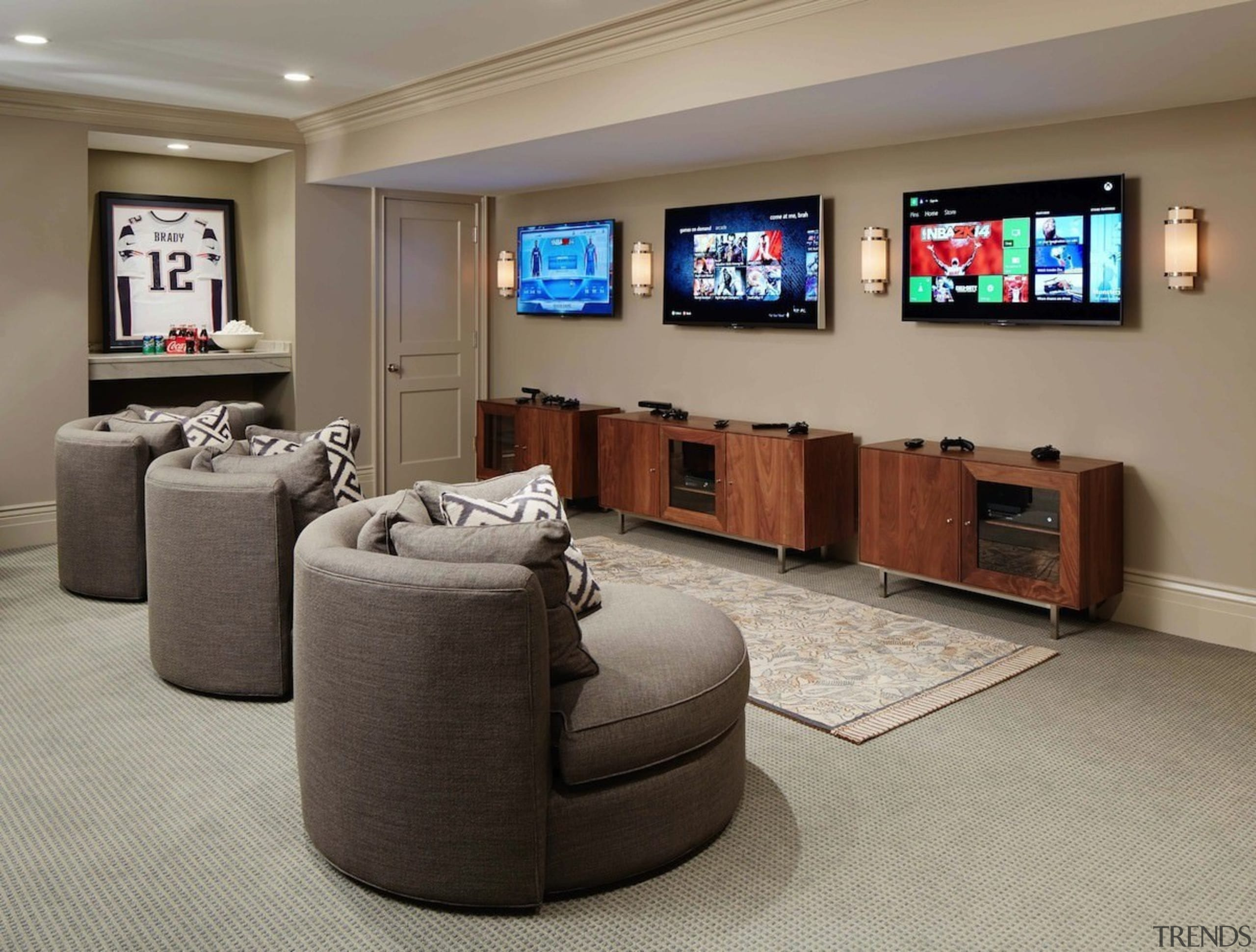 The perfect man cave - The perfect man furniture, interior design, living room, room, gray