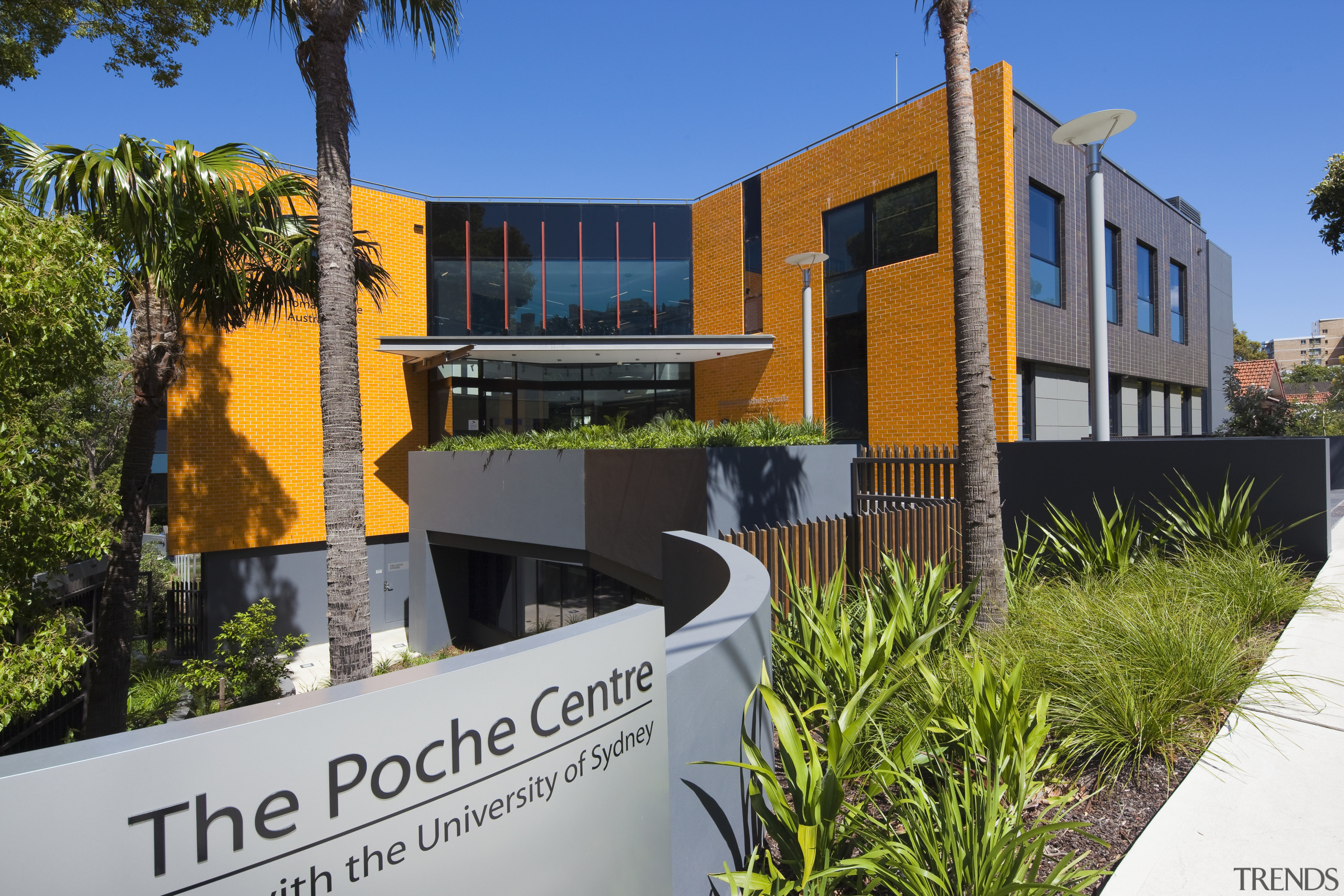 Exterior view of the Poche Centre which was architecture, building, elevation, facade, home, house, property, real estate, villa