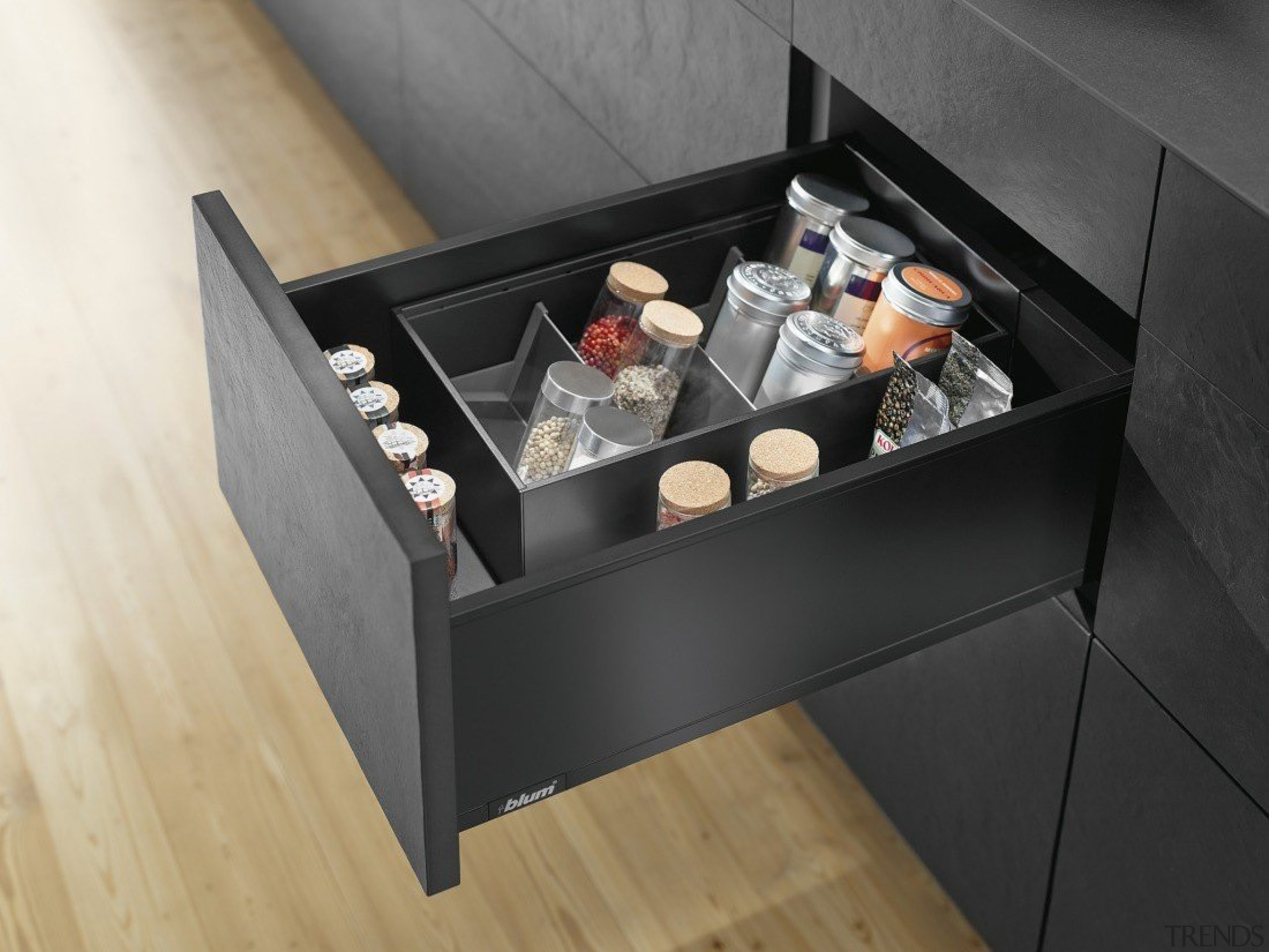AMBIA-LINE inner dividing system – organization at its drawer, furniture, product design, table, black