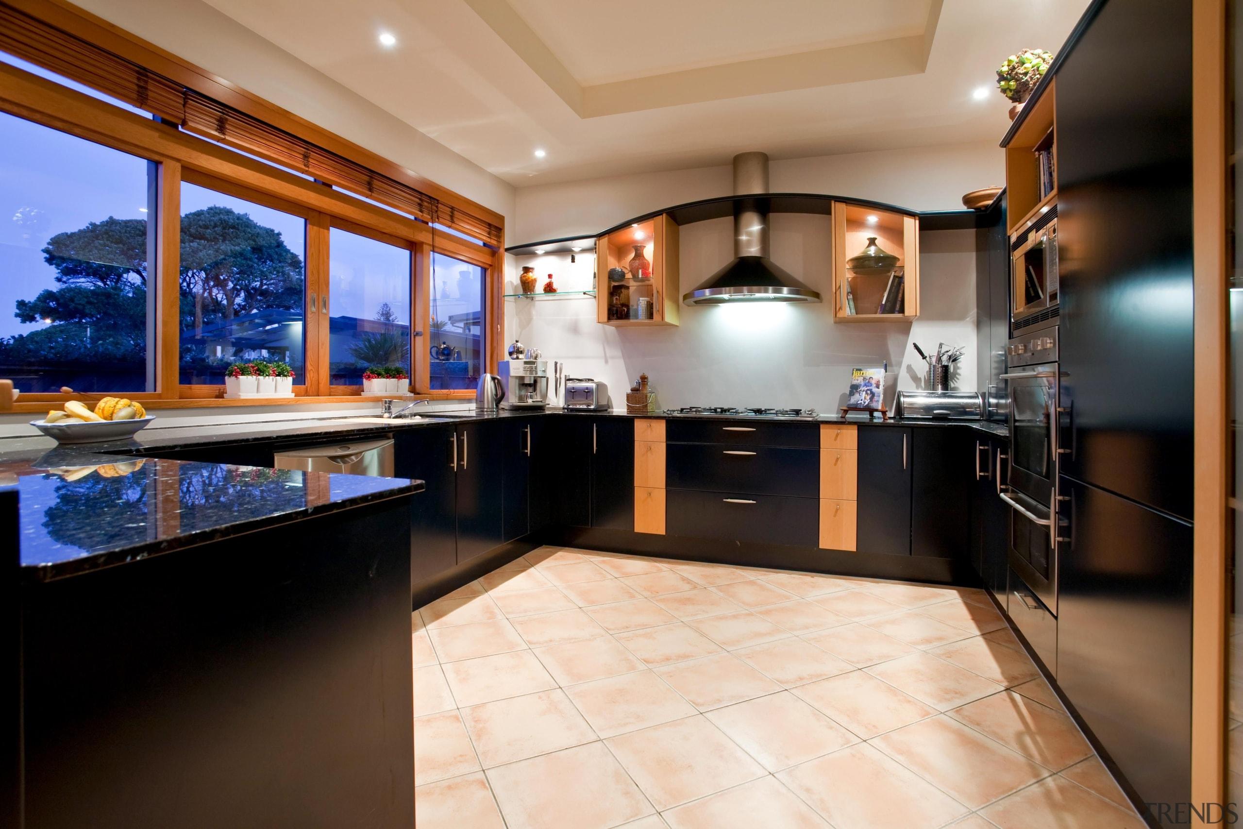 Kitchen - countertop | estate | interior design countertop, estate, interior design, kitchen, real estate, room, black
