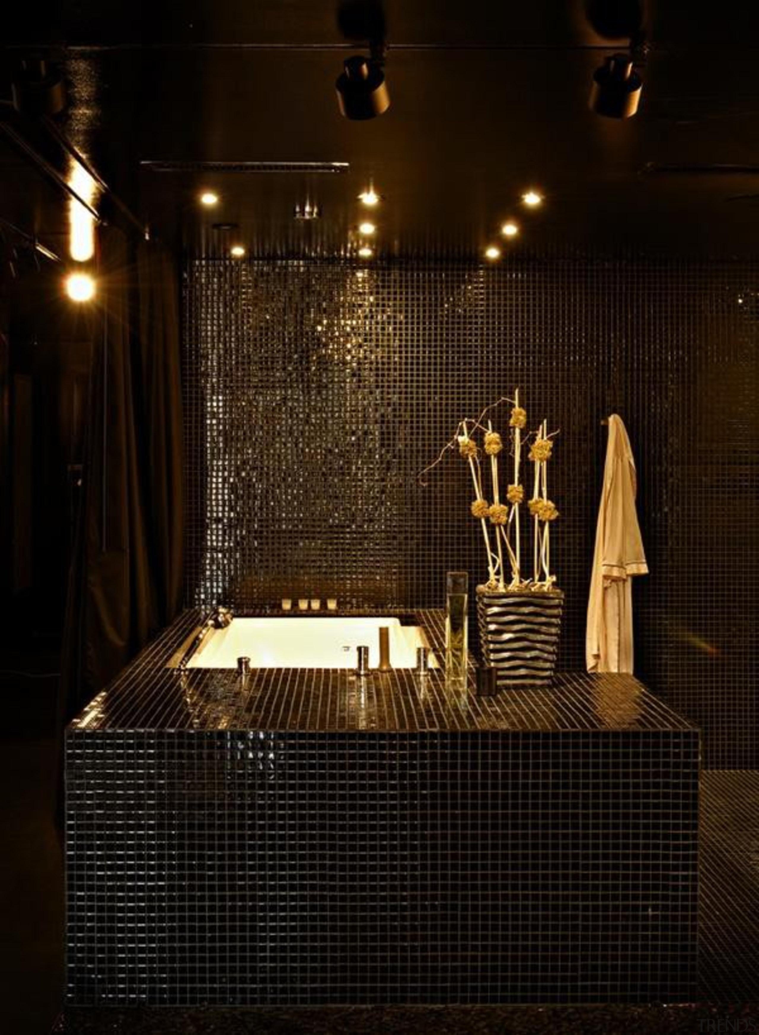 Creating Apartment like Nightclub with Almost Entirely Black darkness, interior design, light, light fixture, lighting, night, black