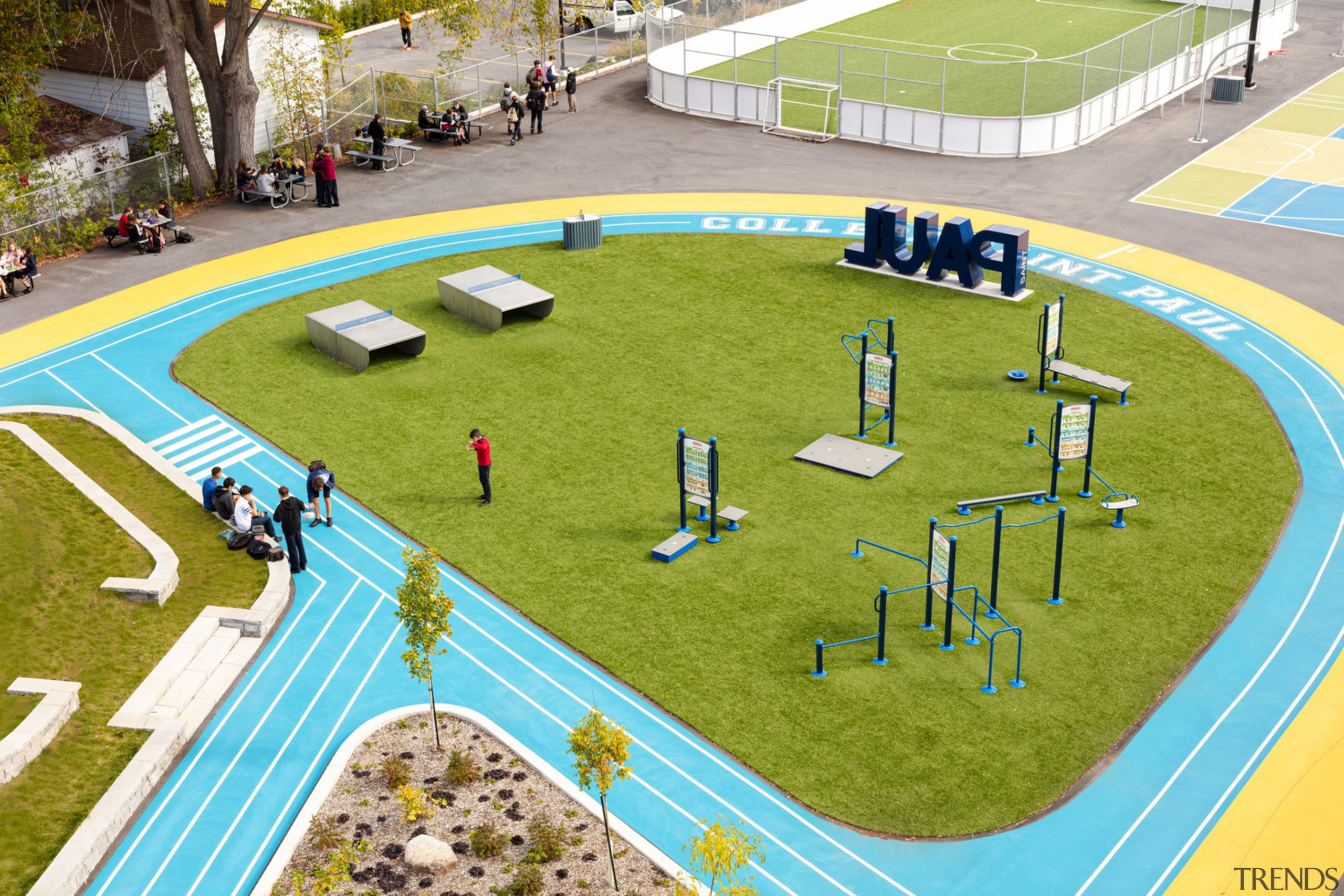 The school's training circuit and exercise modules.