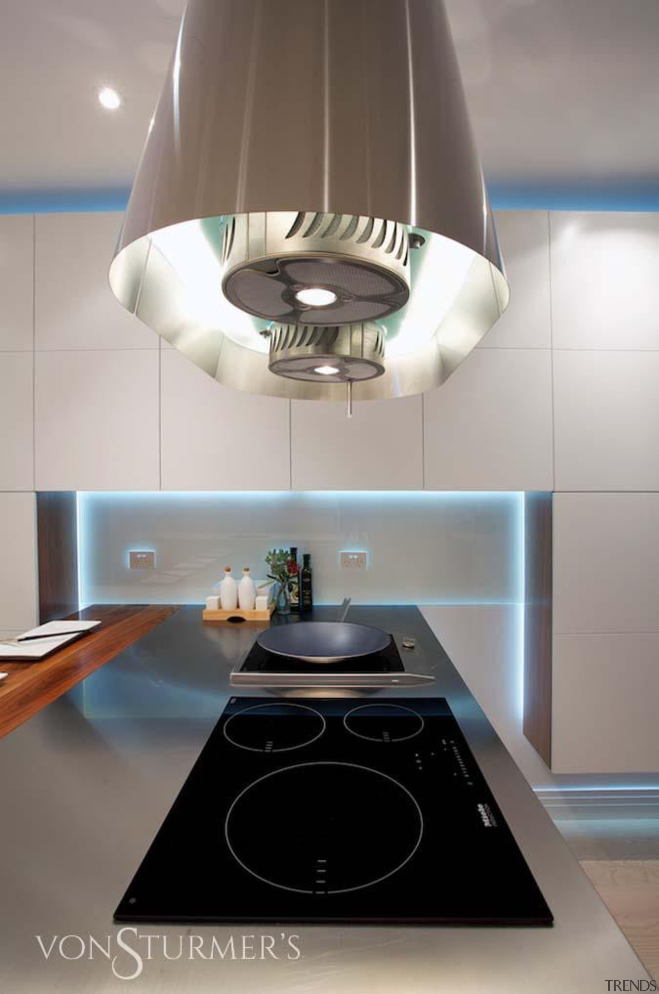 Downtown Penthouse Living - Downtown Penthouse Living - ceiling, countertop, interior design, kitchen, light fixture, lighting, lighting accessory, product design, table, gray