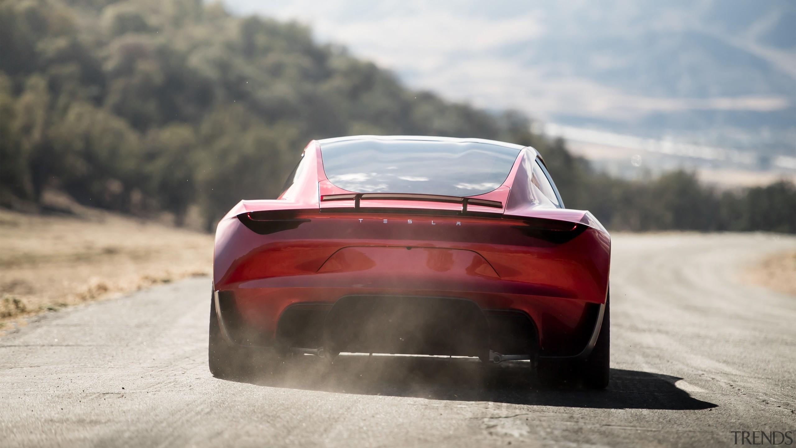 Tesla's new Roadster - Tesla's new Roadster - automotive design, automotive exterior, car, concept car, luxury vehicle, performance car, personal luxury car, race car, sports car, supercar, vehicle, gray