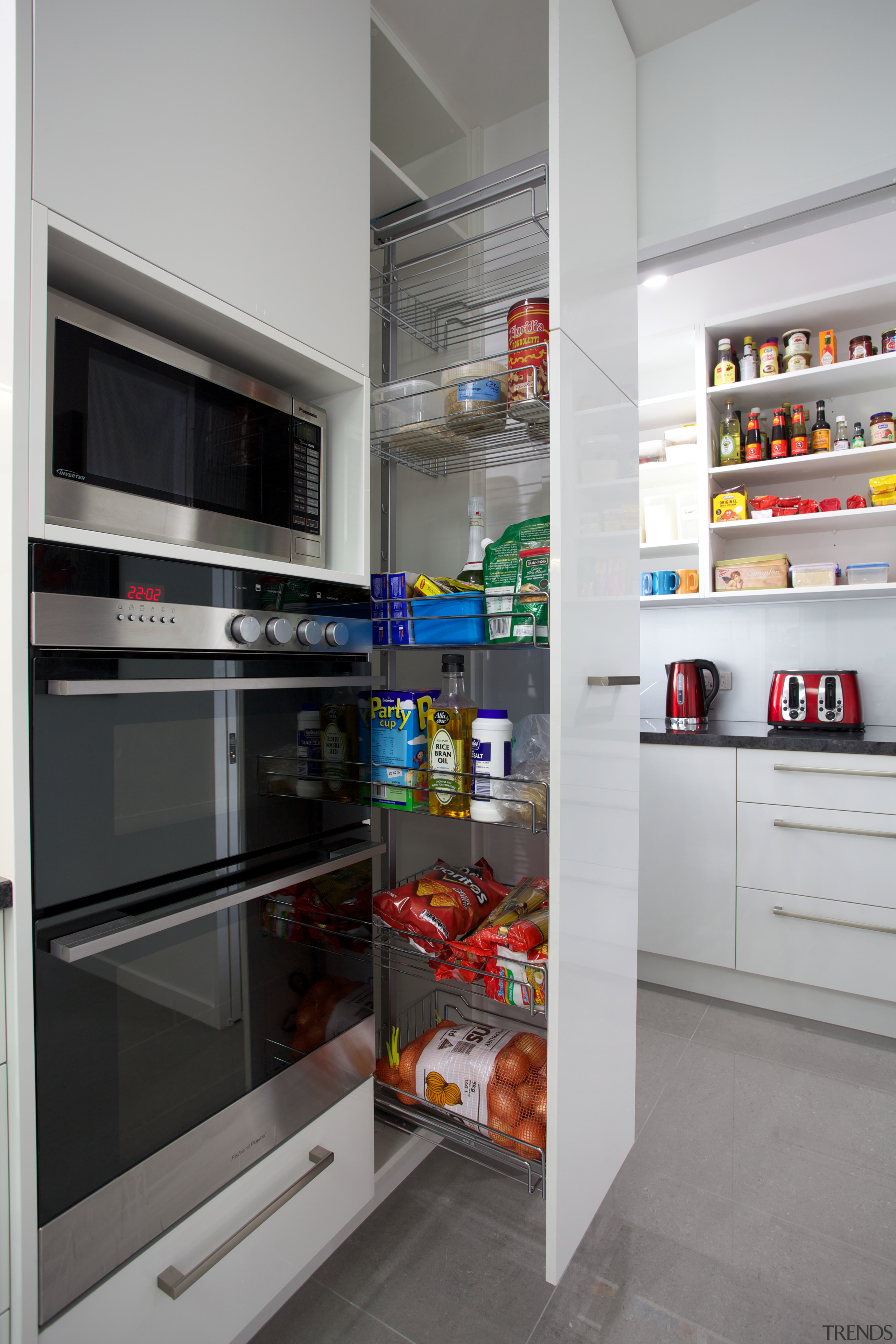Every kitchen made by The Kitchen Design Company home appliance, kitchen, kitchen appliance, major appliance, pantry, product, refrigerator, gray