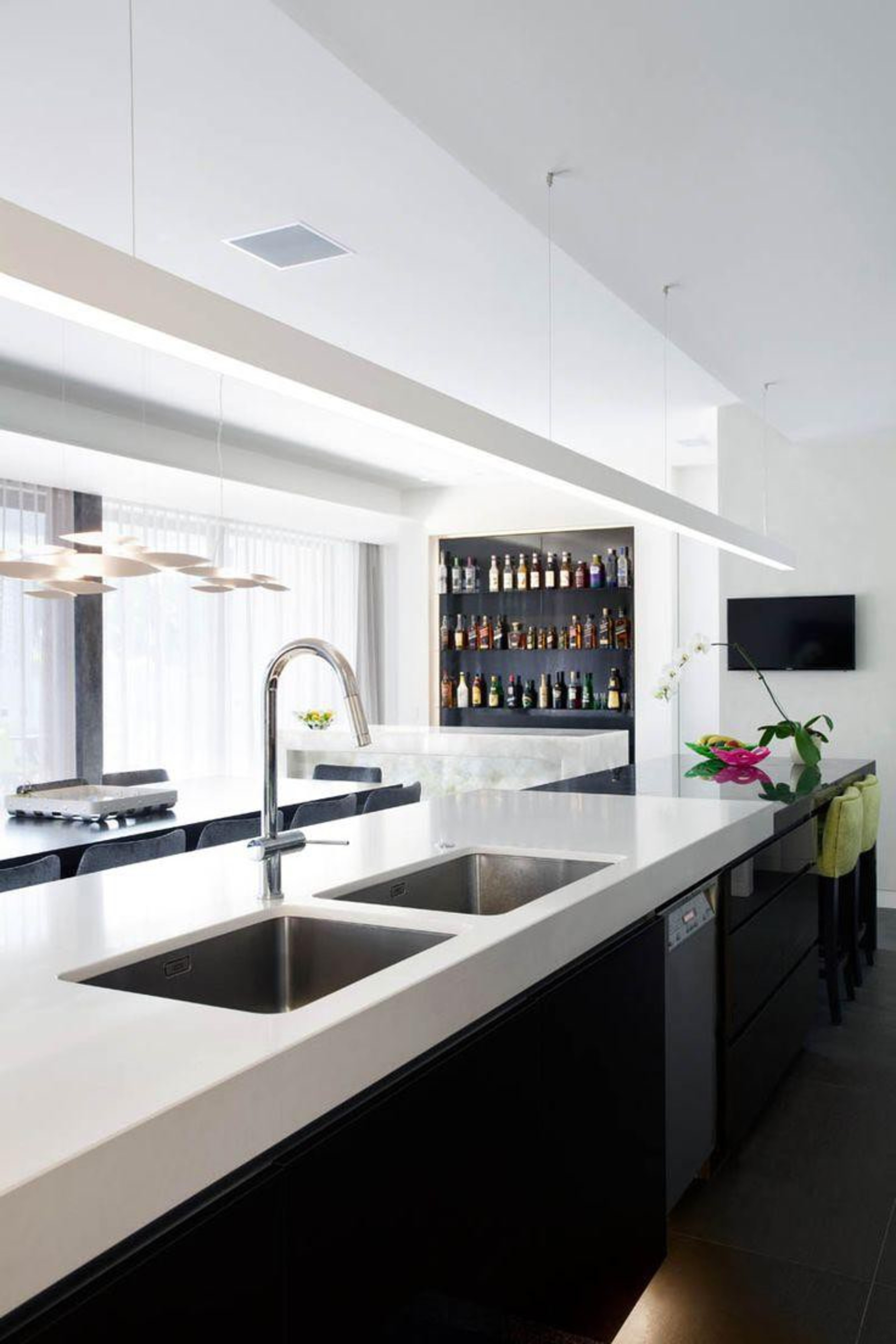 Touch Wood Cabinetry - Snow™ - countertop | countertop, interior design, kitchen, product design, white, black