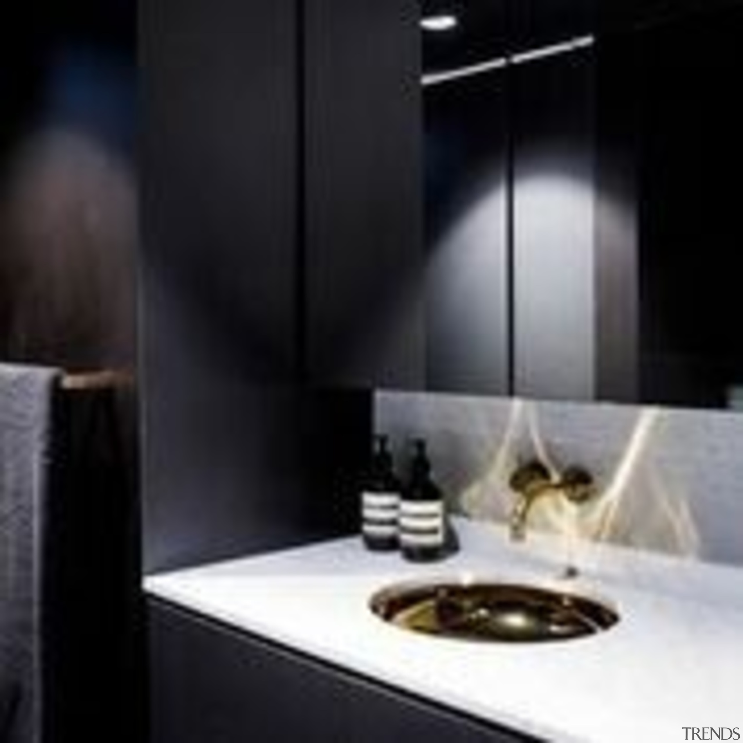 Architect: Architect Prinea - X - bathroom | bathroom, countertop, interior design, light fixture, lighting, product design, sink, tap, black
