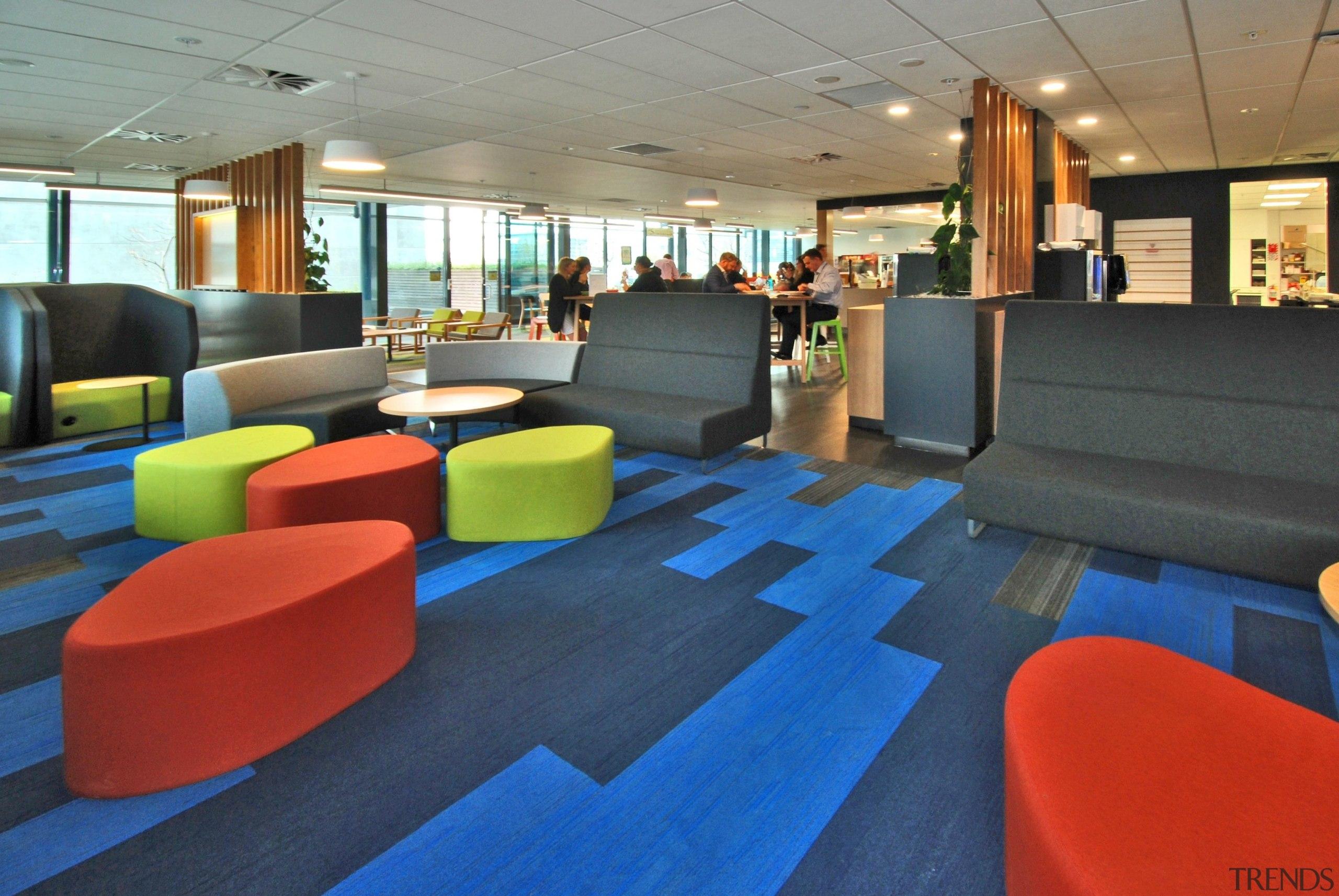 Office - Interior - interior design   leisure interior design, leisure centre, lobby, blue