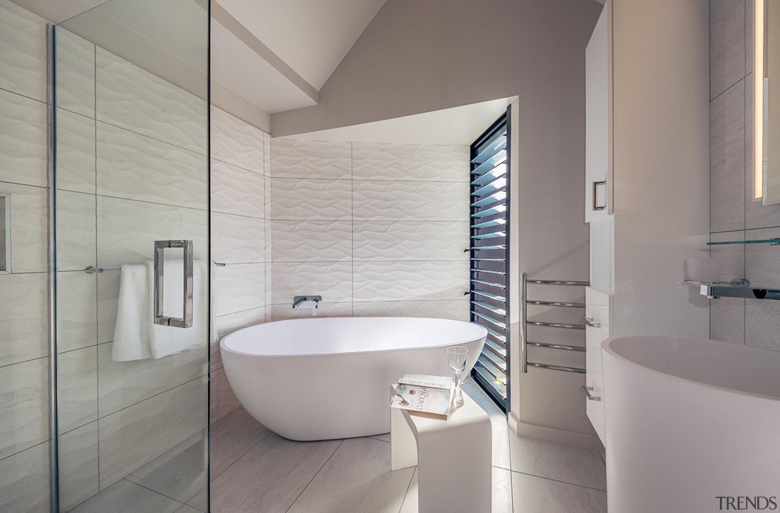 Extending the length of the existing bathroom provided architecture, bathroom, bathroom accessory, bidet, floor, interior design, plumbing fixture, room, tap, tile, toilet seat, gray