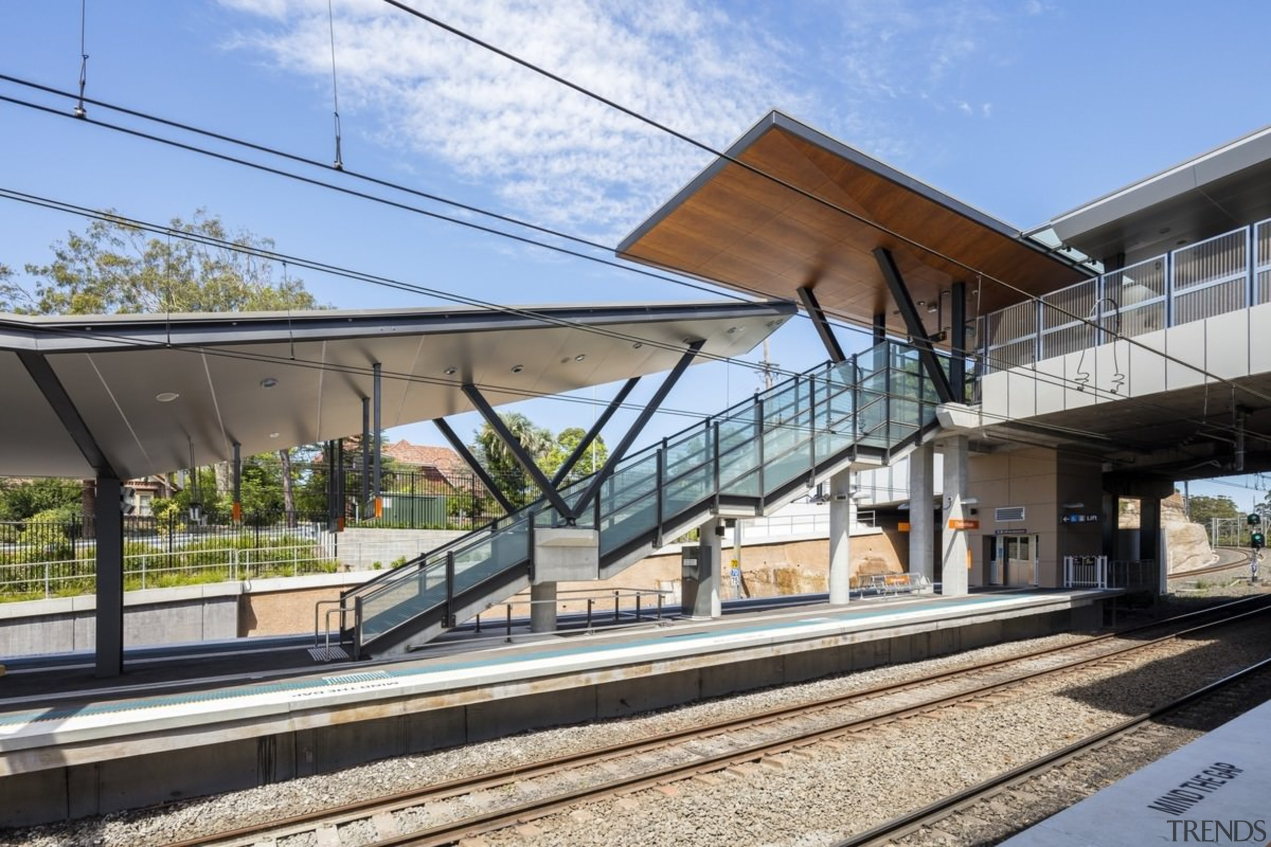 Cheltenham Station – Cox Architecture - Cheltenham Station architecture, building, metropolitan area, residential area, train station, transport, gray, teal