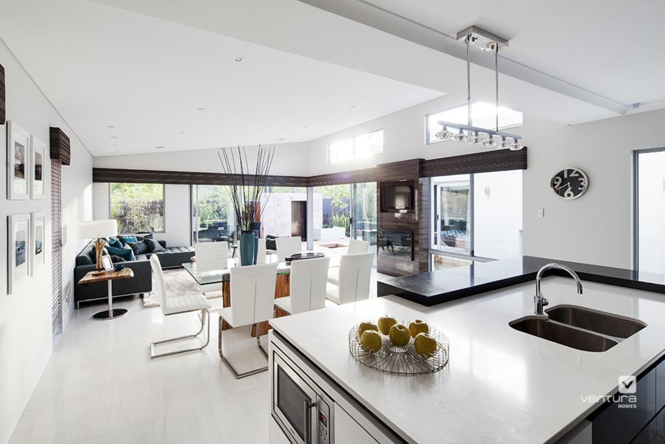 Kitchen design. - The Haven Display Home - house, interior design, living room, property, real estate, white