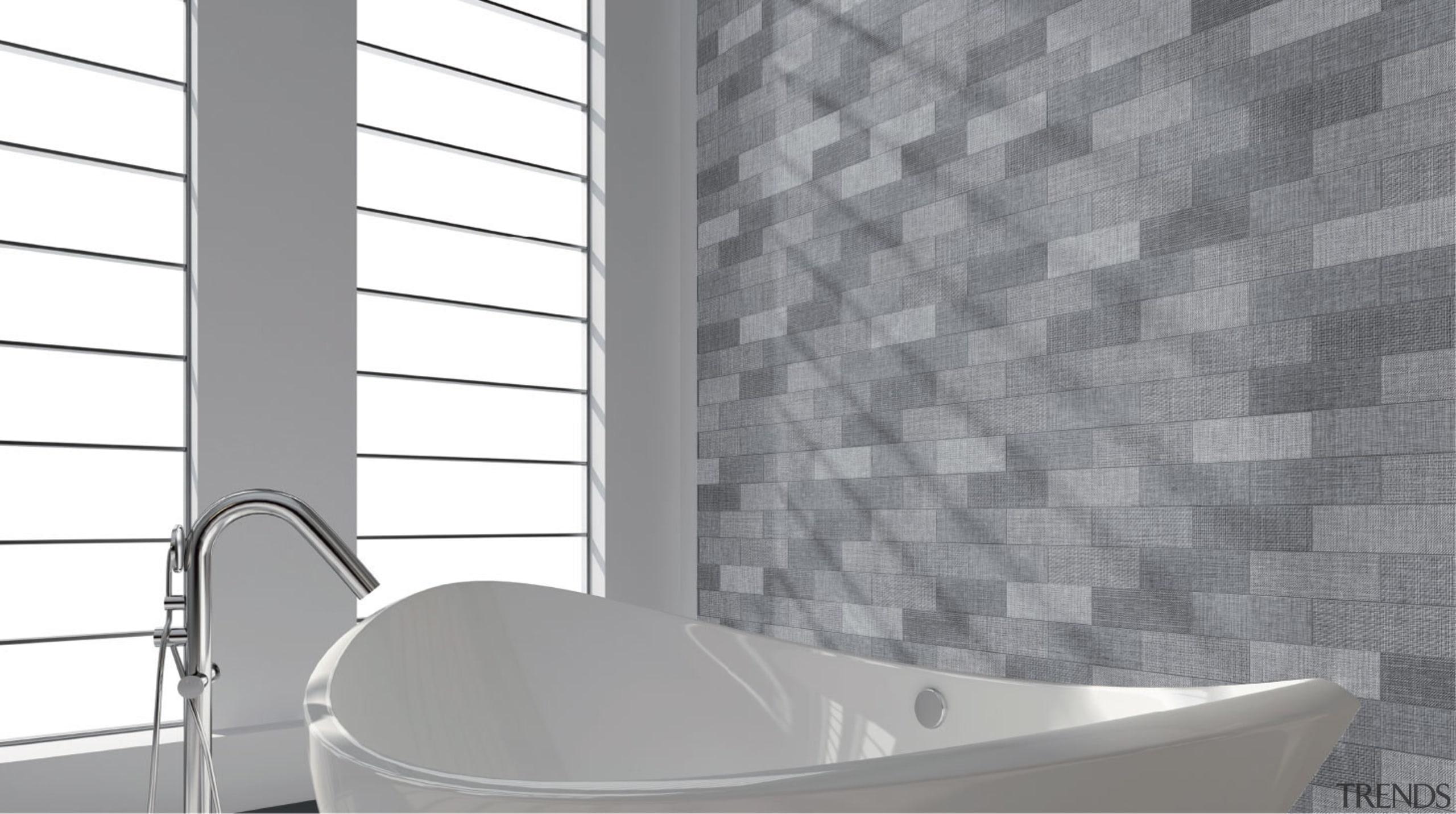Brick Text Grey 90x300 - Brick Text Grey angle, bathroom, black and white, ceramic, daylighting, floor, flooring, interior design, product, tap, tile, wall, window, gray