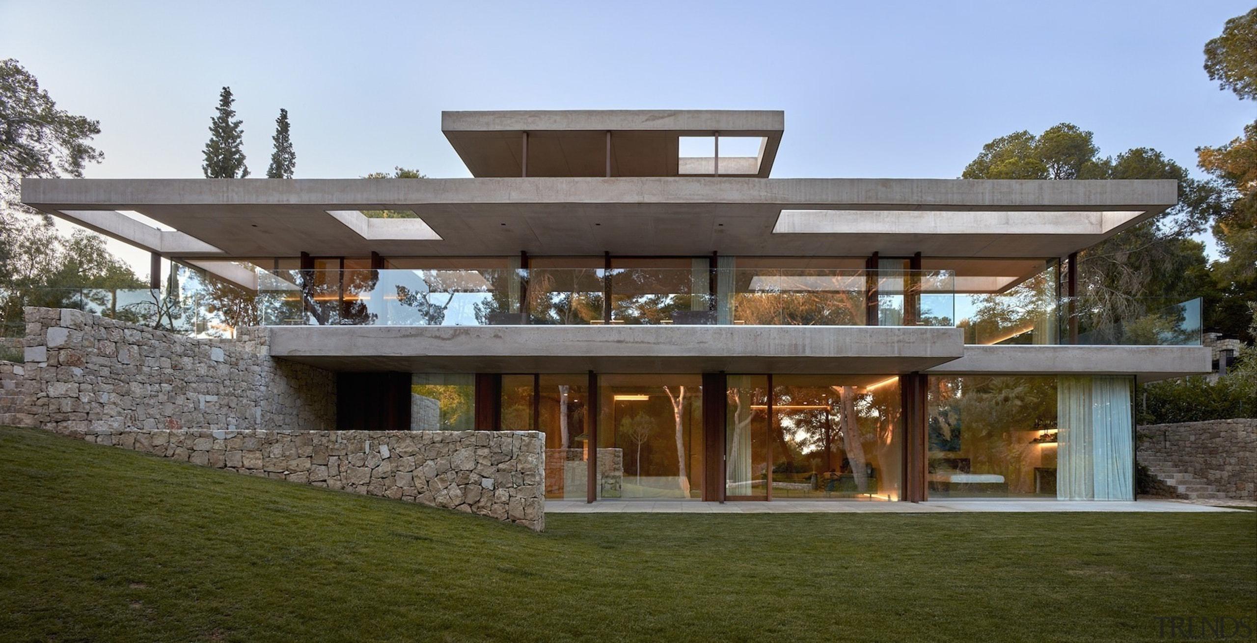 Architect: Ramón Esteve Estudio de Arquitectura architecture, elevation, facade, home, house, property, real estate, residential area, brown