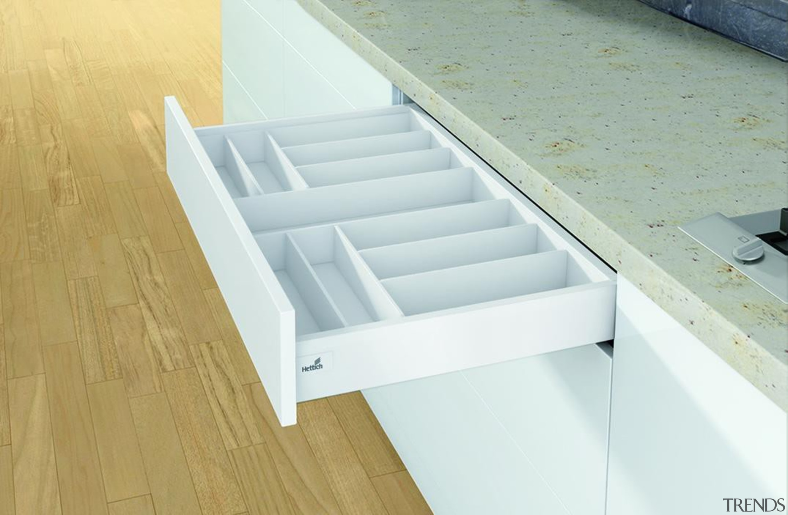 Cutlery Drawer - Cutlery Drawer - angle | angle, daylighting, drawer, floor, furniture, product, product design, table, wood, white, orange
