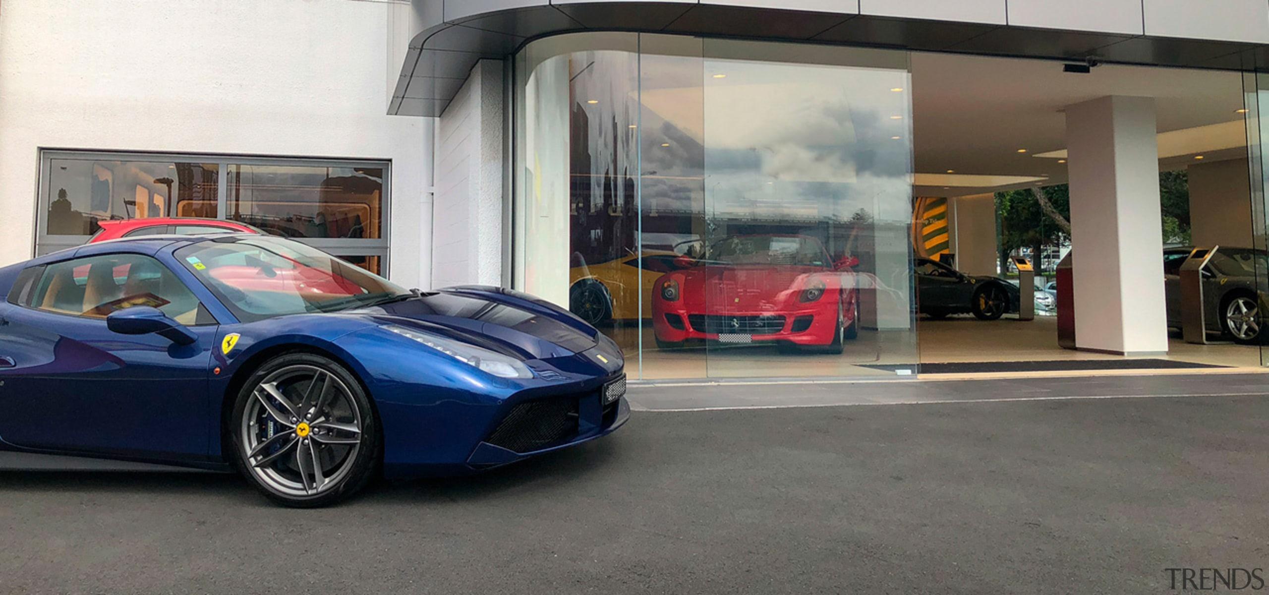 Ferrari Showroom 4 - automotive design | automotive automotive design, automotive exterior, car, lamborghini, land vehicle, luxury vehicle, performance car, sports car, supercar, vehicle, gray
