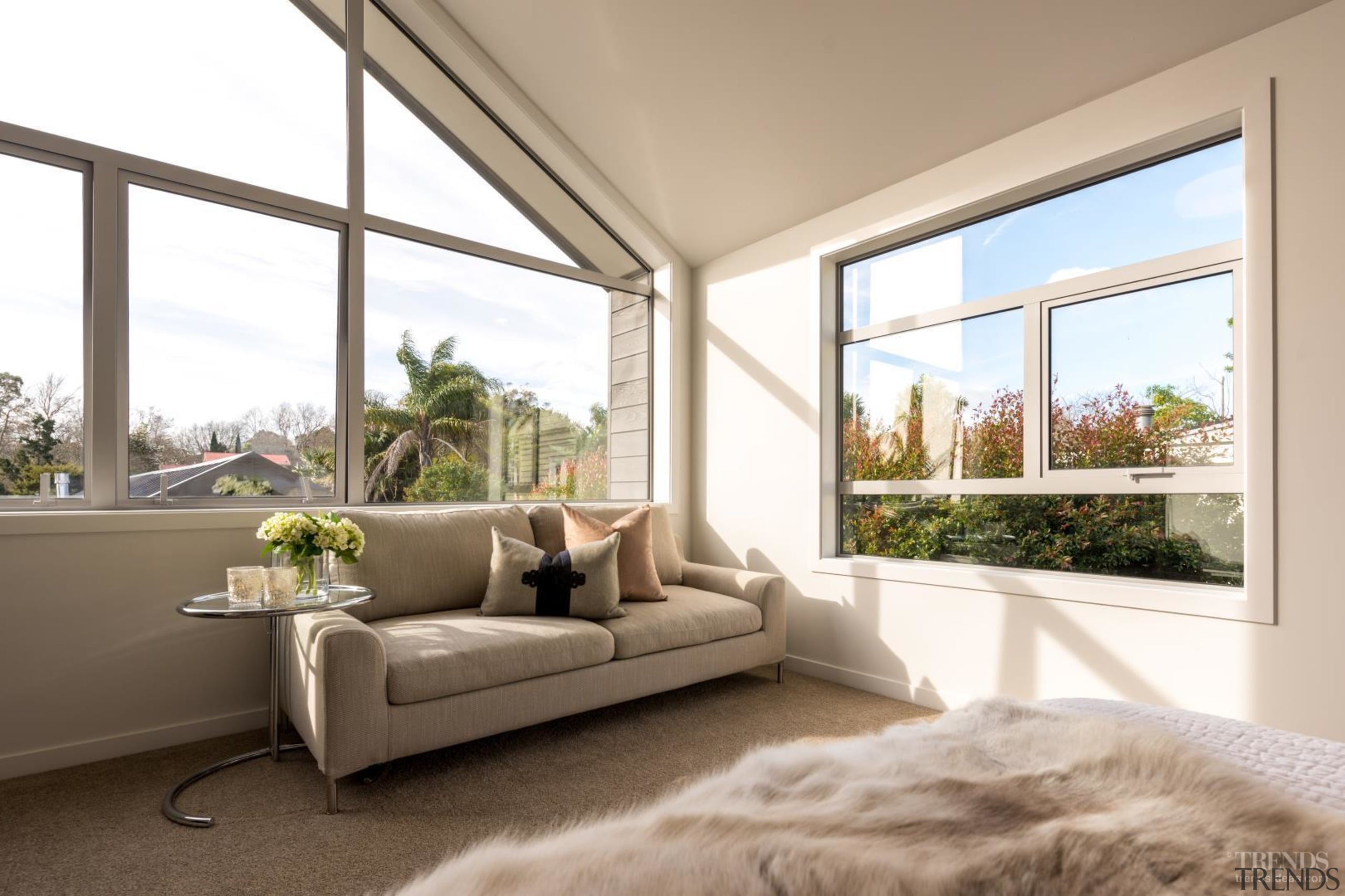 Feature Windows Bring Character And Create Light Filled daylighting, estate, floor, home, house, interior design, living room, property, real estate, window, window covering, white, brown