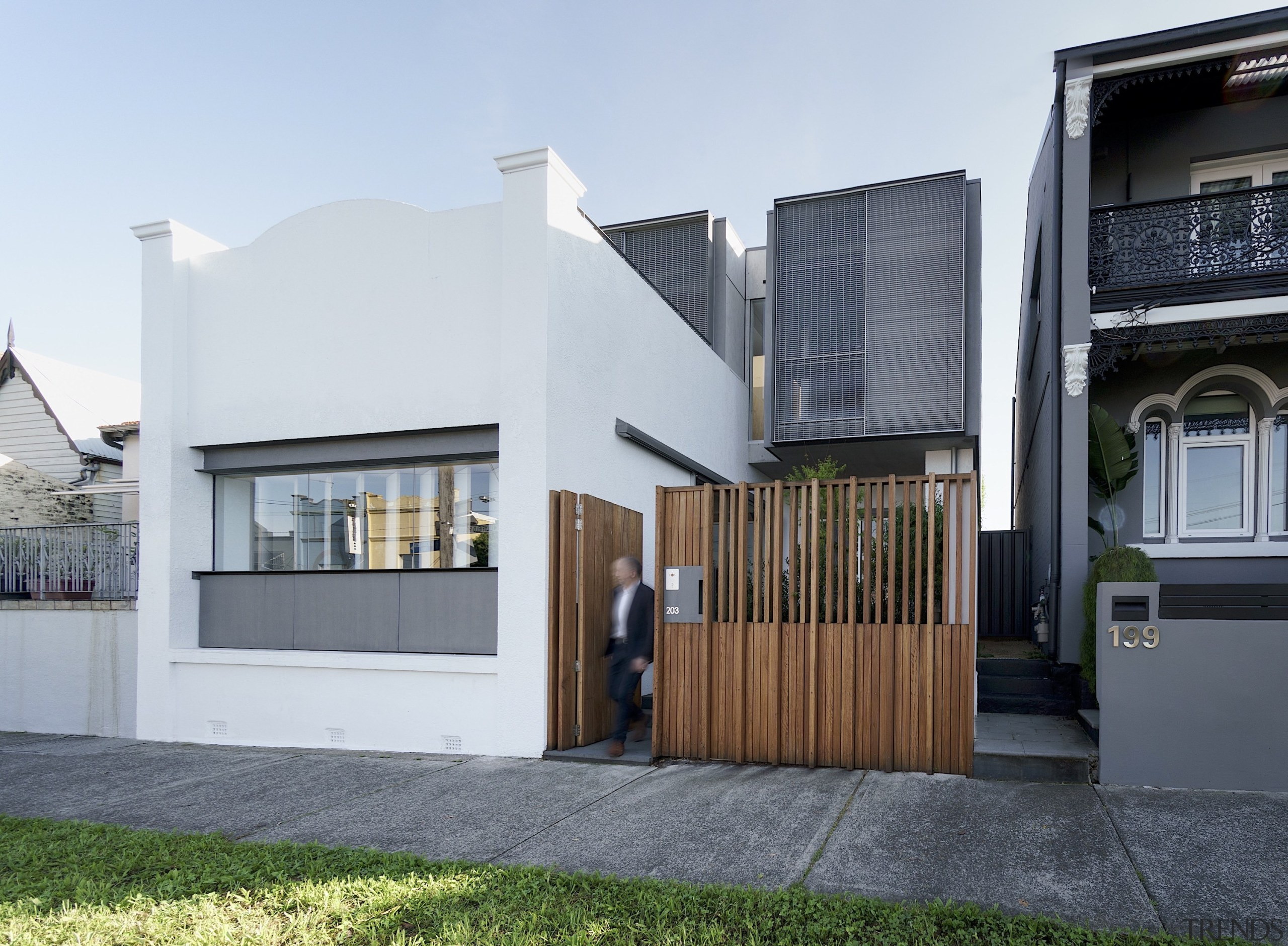 Studio203  – Highly Commended – 2019 TIDA Australia apartment, architecture, building, estate, facade, home, house, material property, property, real estate, residential area, roof, room, white