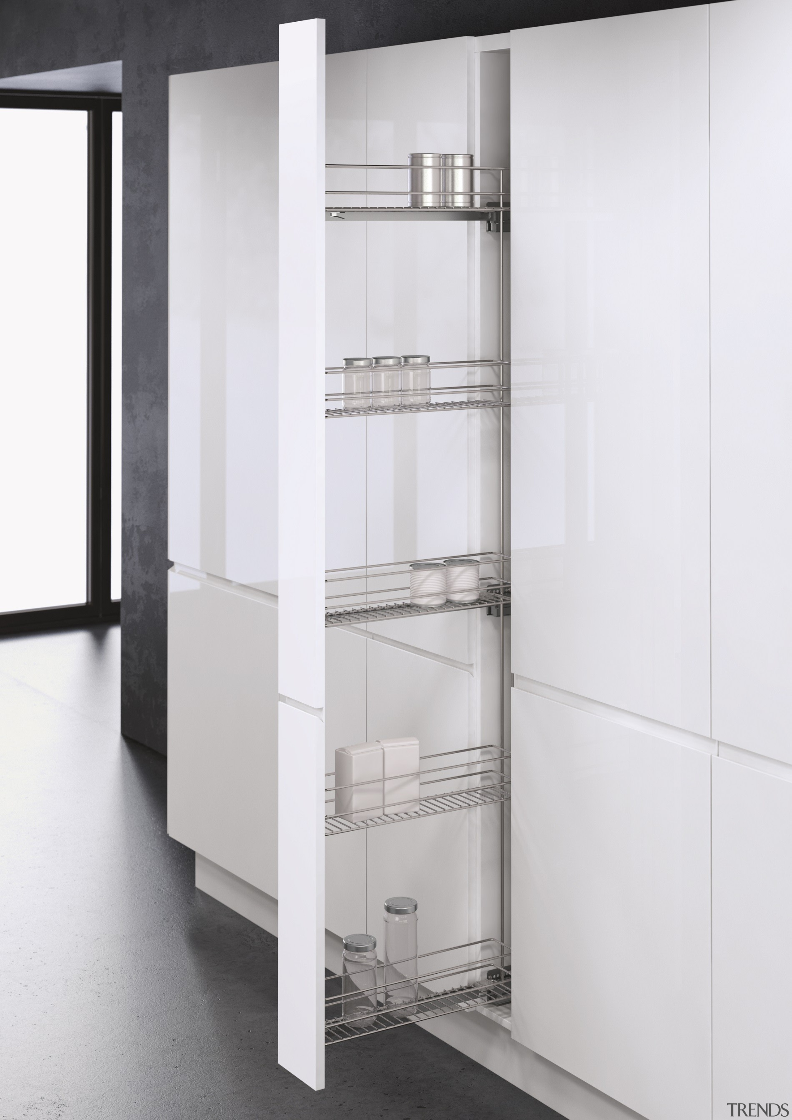 Vauth Sagel VS TAL WIRO Rack 15 Tall bathroom accessory, display case, furniture, product, shelving, white