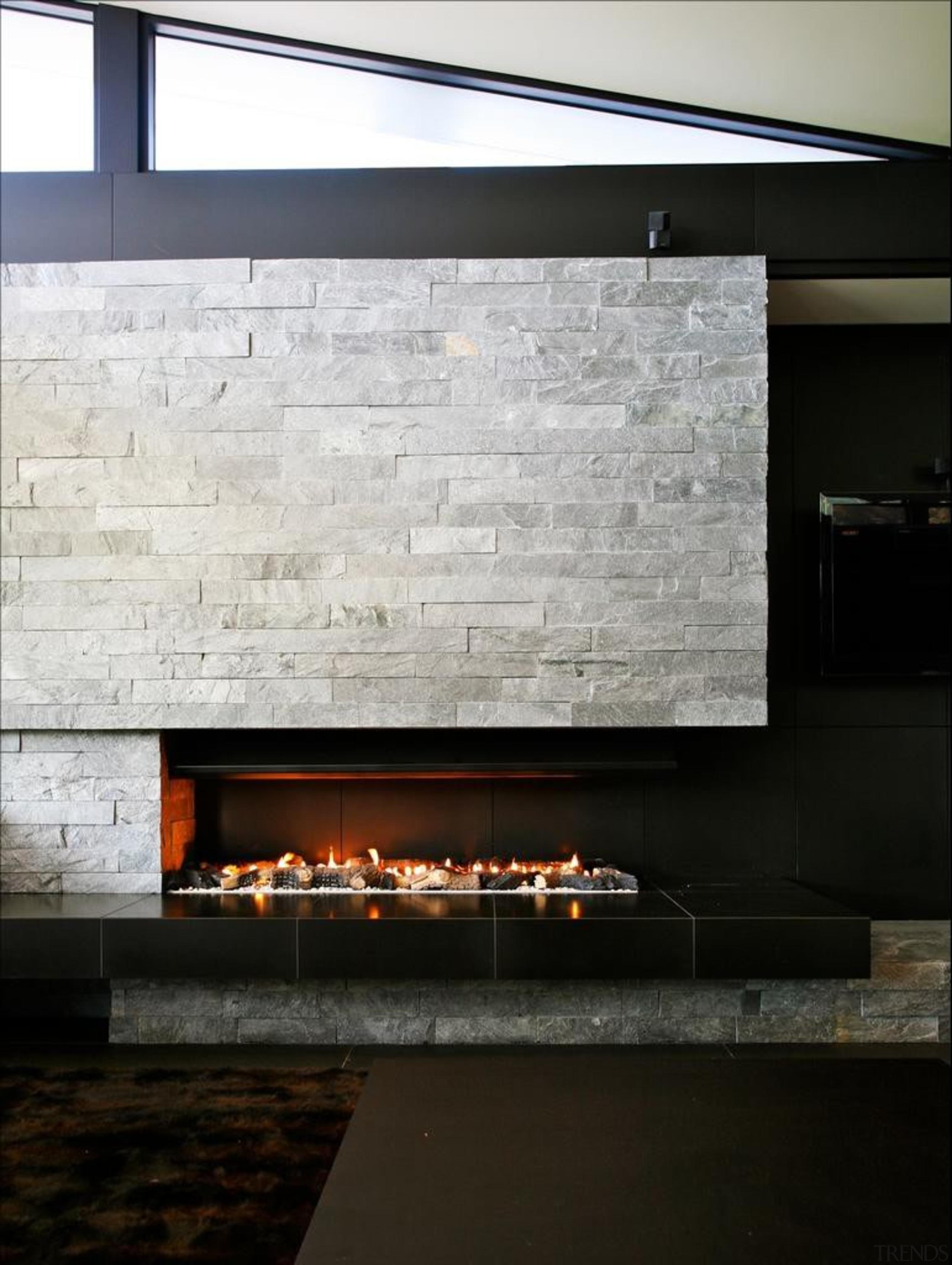 Coatesville House - Coatesville House - architecture   architecture, fireplace, floor, hearth, interior design, wall, black, white