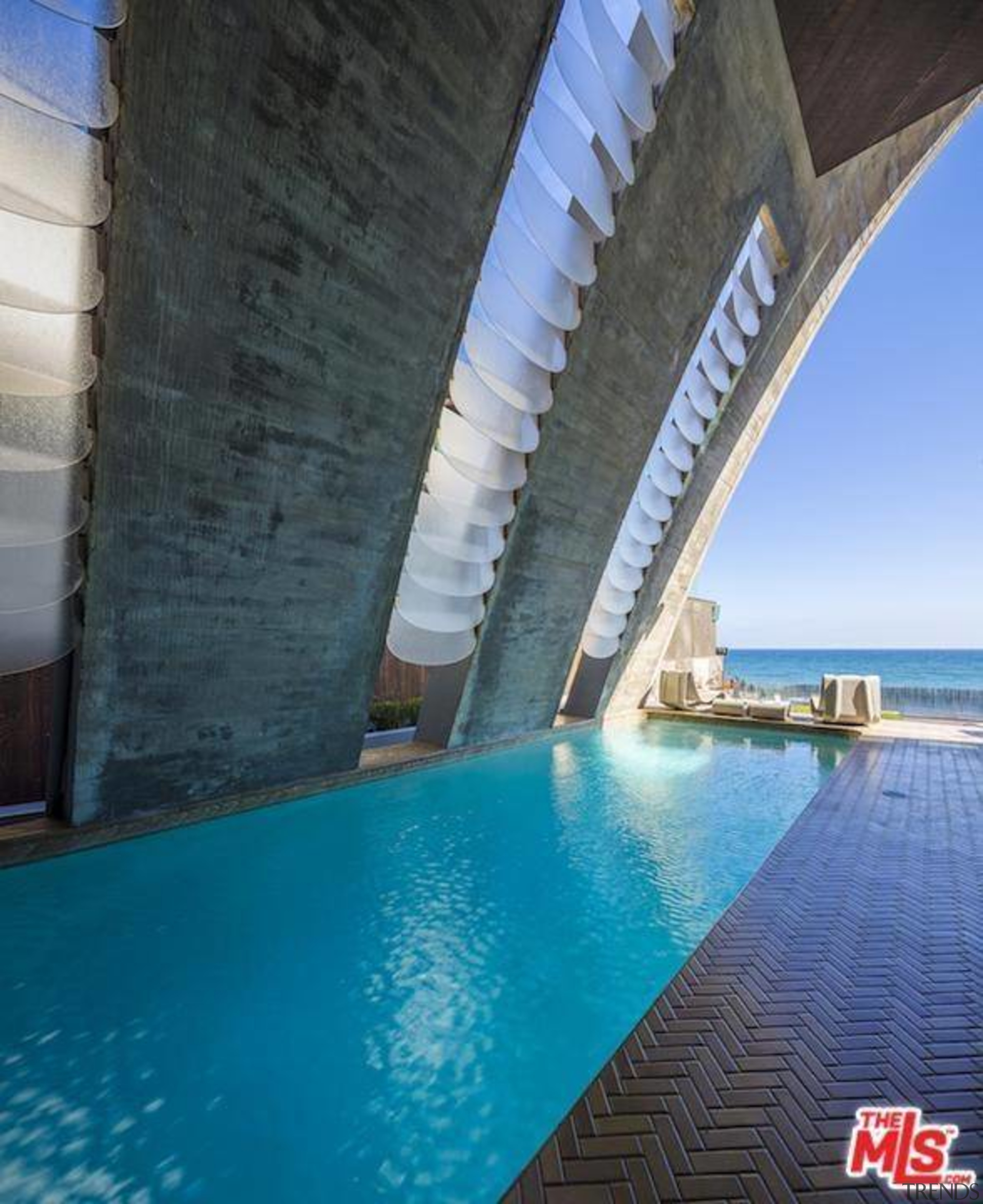Edward Norton's new Malibu Colony home – Trulia fixed link, leisure, property, real estate, sky, swimming pool, water, teal, black