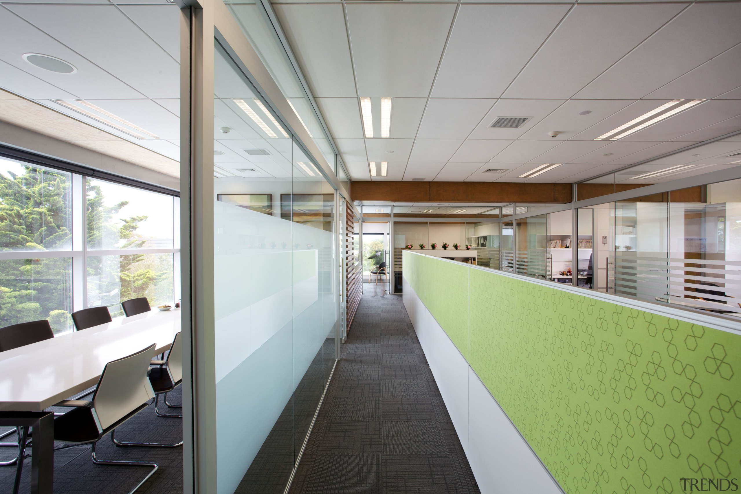 New seismic structural systems technology is transforming the architecture, ceiling, daylighting, interior design, office, gray