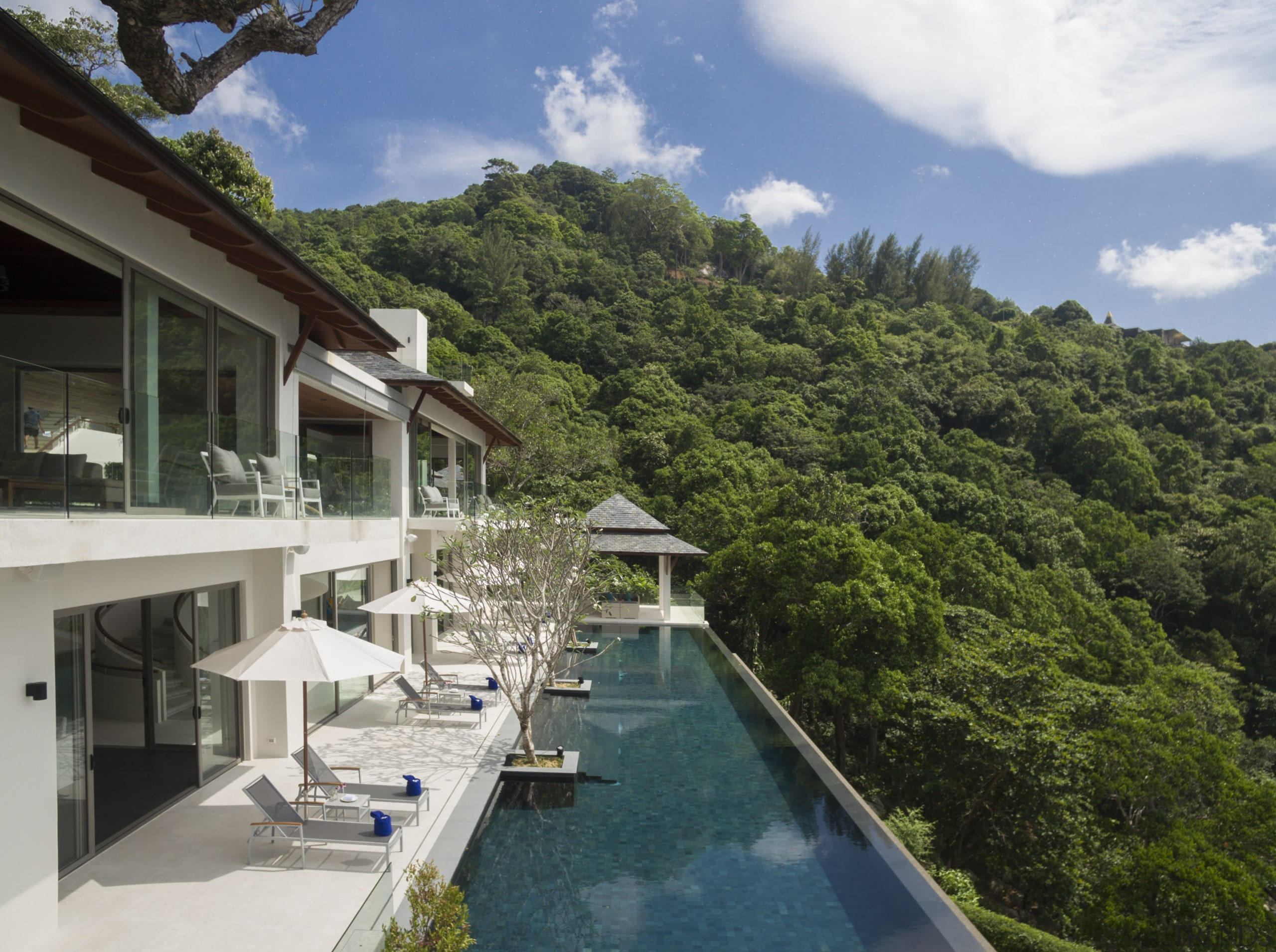 Architect Donal Coyne says this villas 30m pool condominium, cottage, estate, home, house, leisure, property, real estate, resort, resort town, swimming pool, vacation, villa