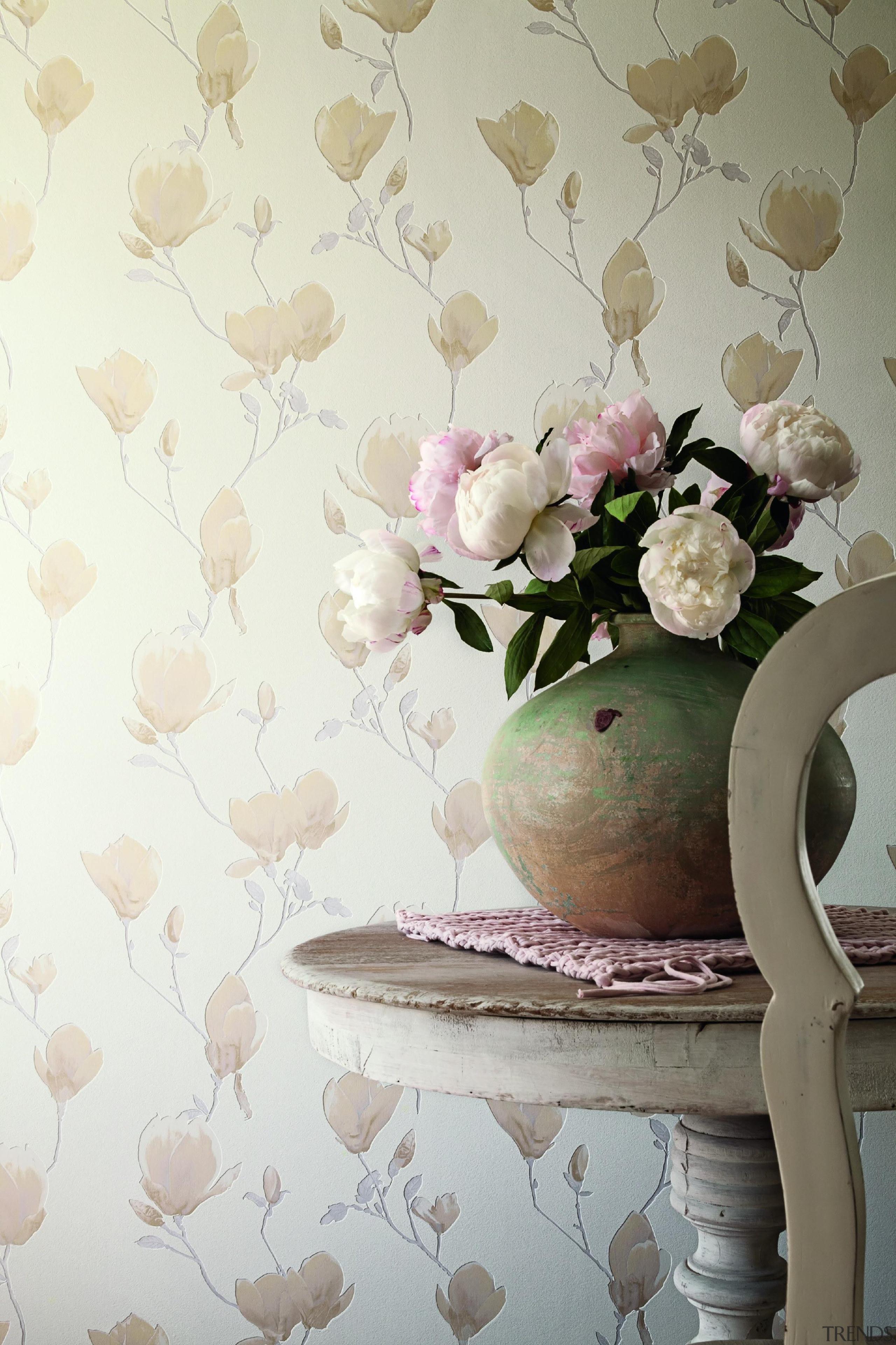 Camarque Range - Camarque Range - decor | decor, floristry, flower, interior design, petal, pink, wall, wallpaper, white, gray